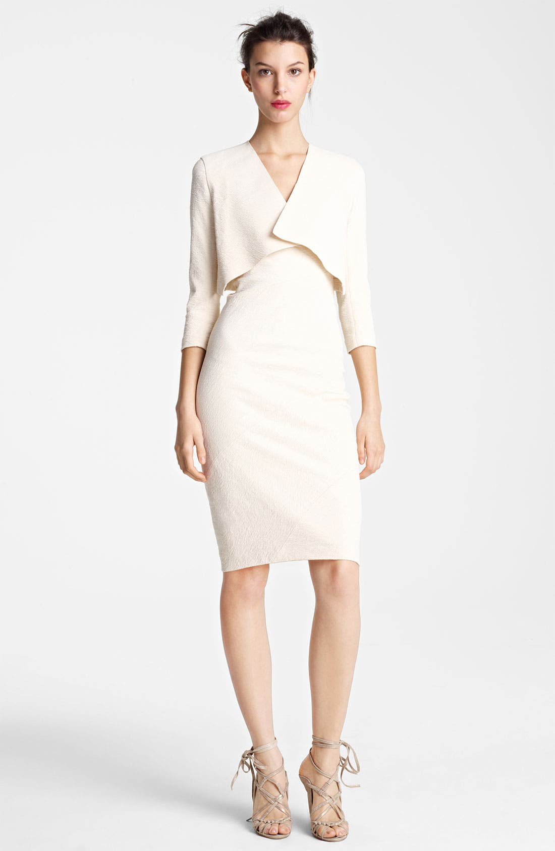 Main Image - Donna Karan Collection Canvas Cardigan Jacket