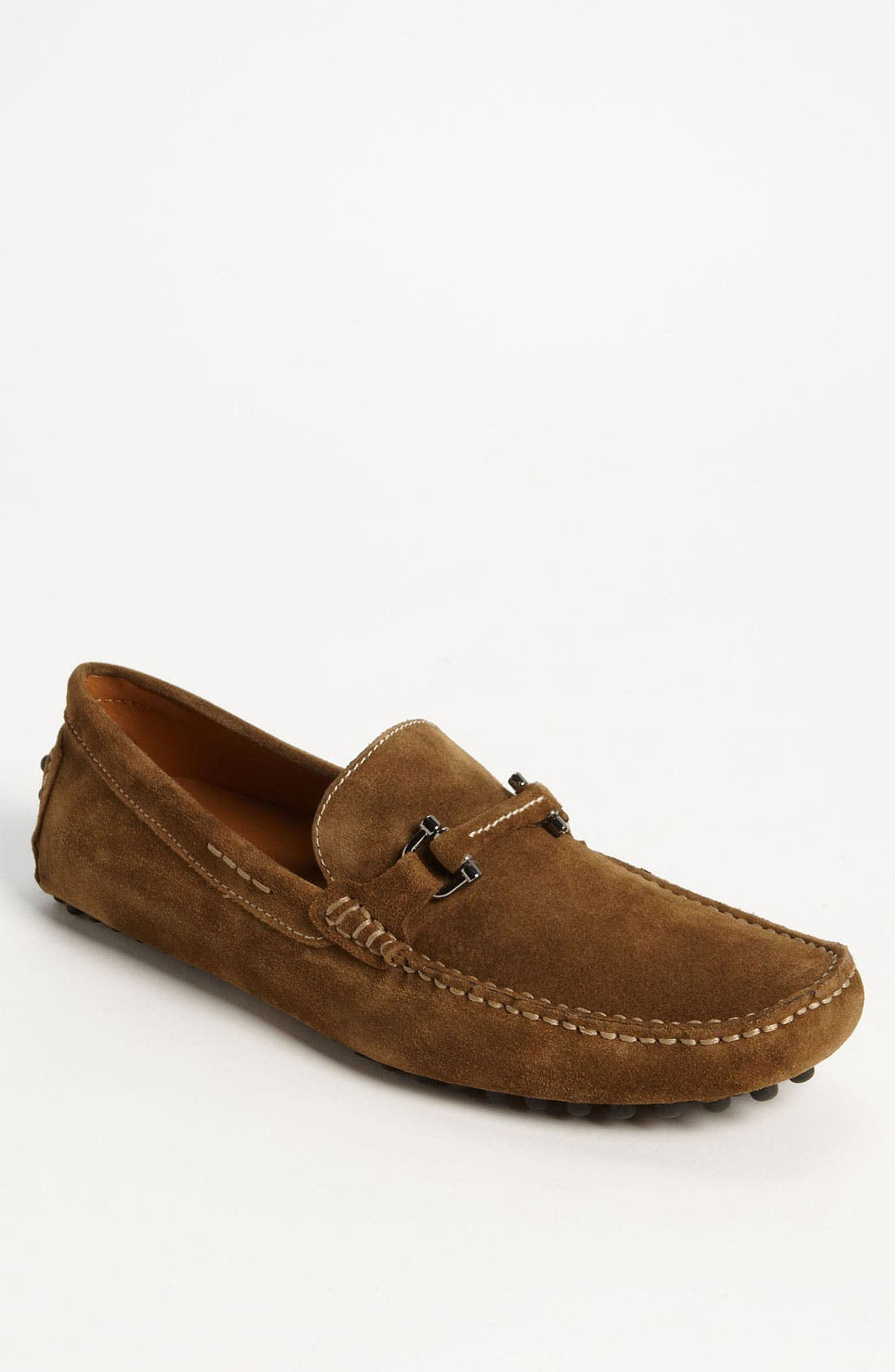 'Antigua' Driving Shoe,                             Main thumbnail 1, color,                             Tobacco Suede