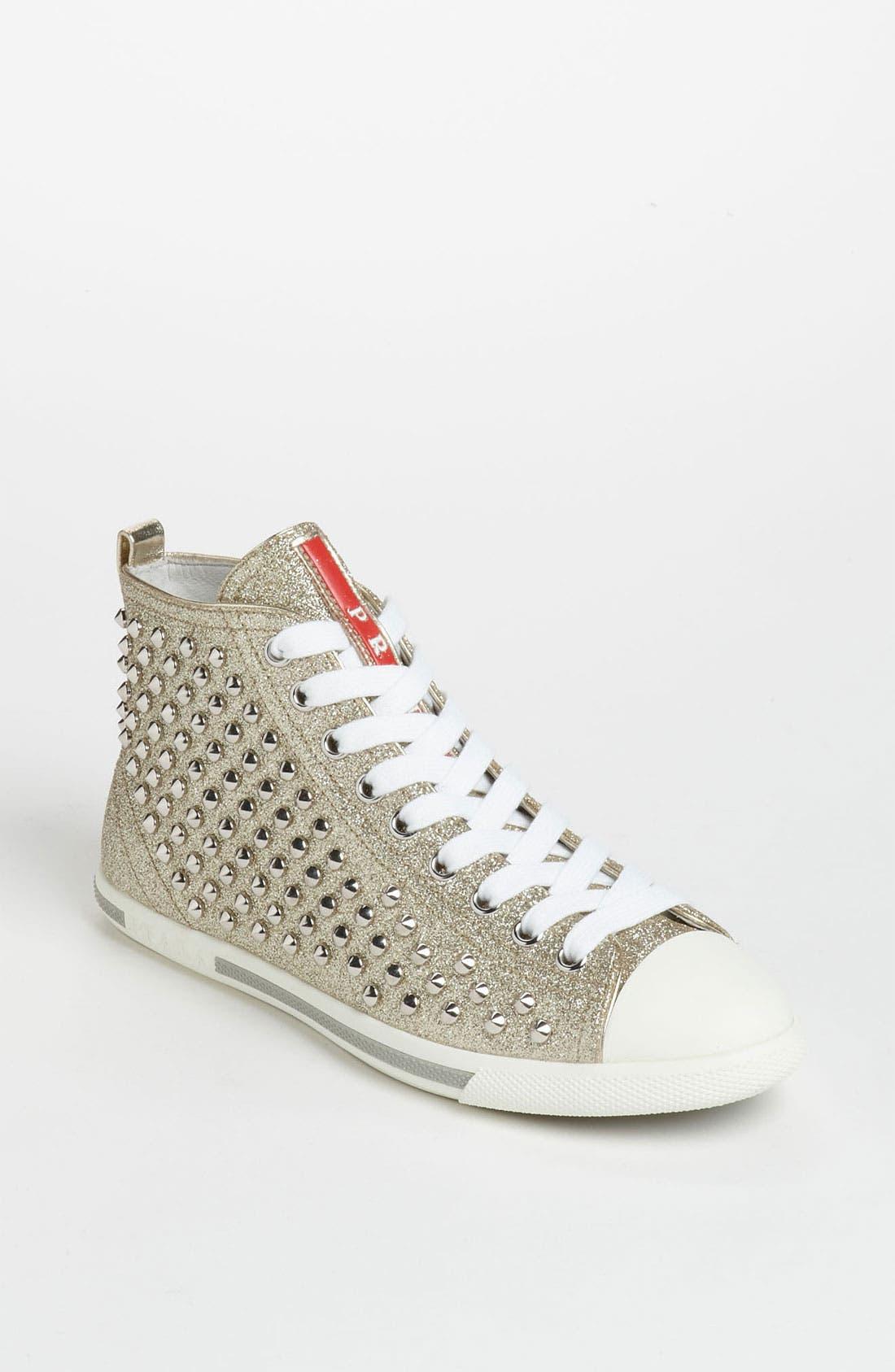 Alternate Image 1 Selected - Prada High Top Sneaker