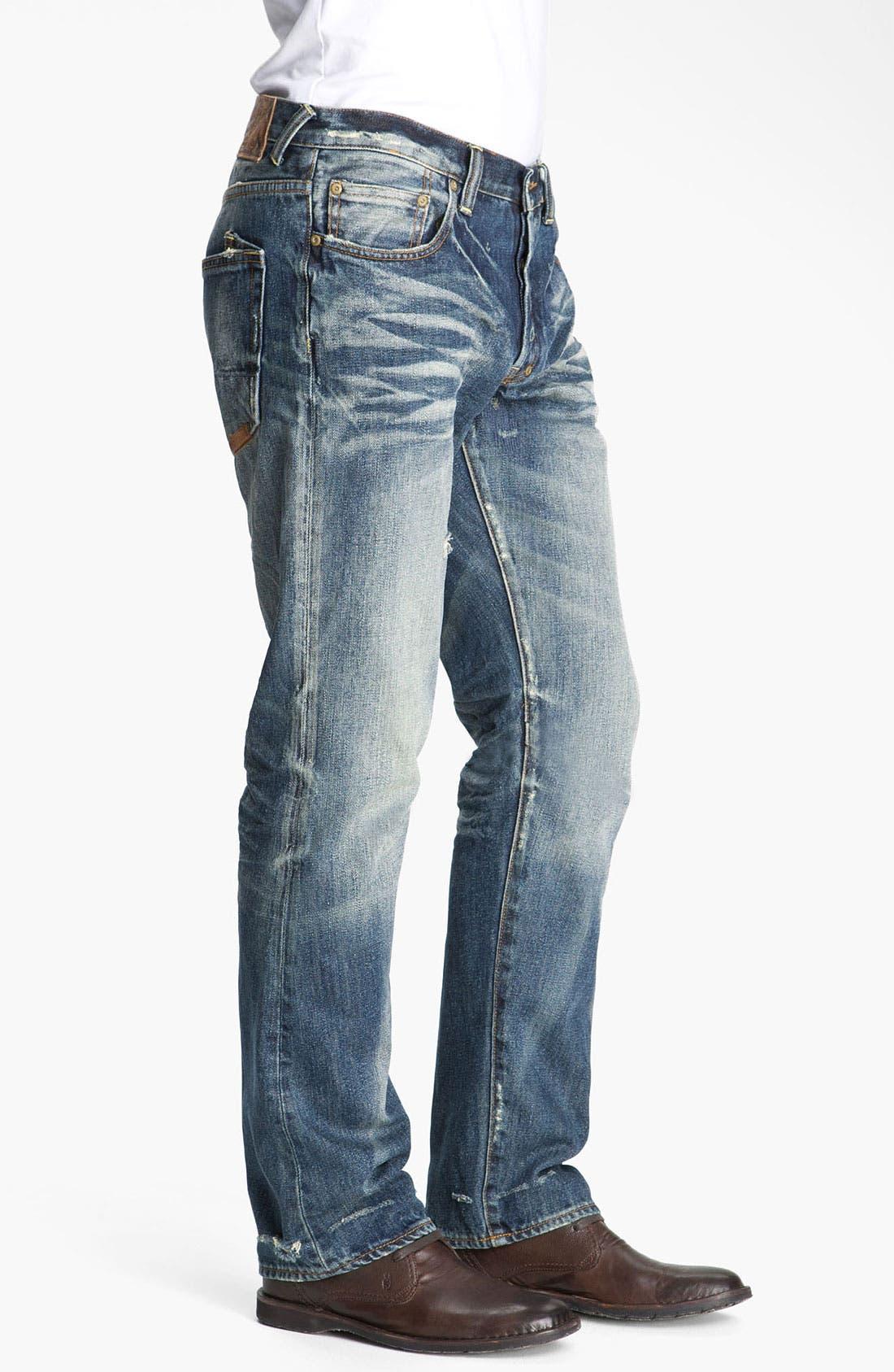 Alternate Image 3  - PRPS 'Leap Frog' Straight Leg Jeans (Light Bone)