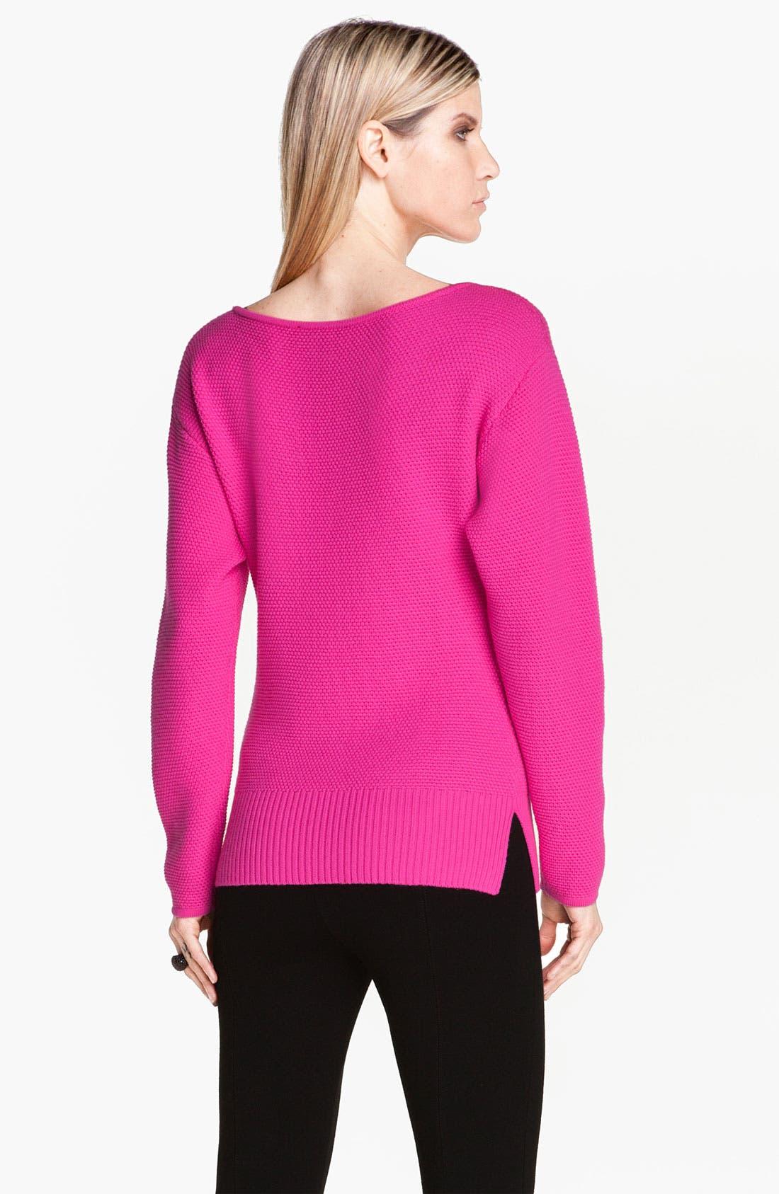 Alternate Image 3  - St. John Yellow Label Micro Piqué Knit Sweater