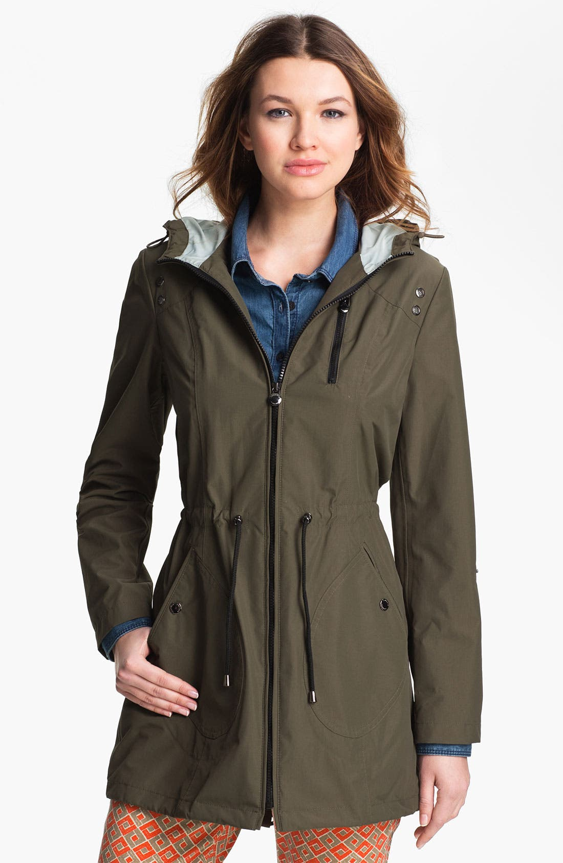Alternate Image 1 Selected - Laundry by Shelli Segal Packable Water Repellent Anorak