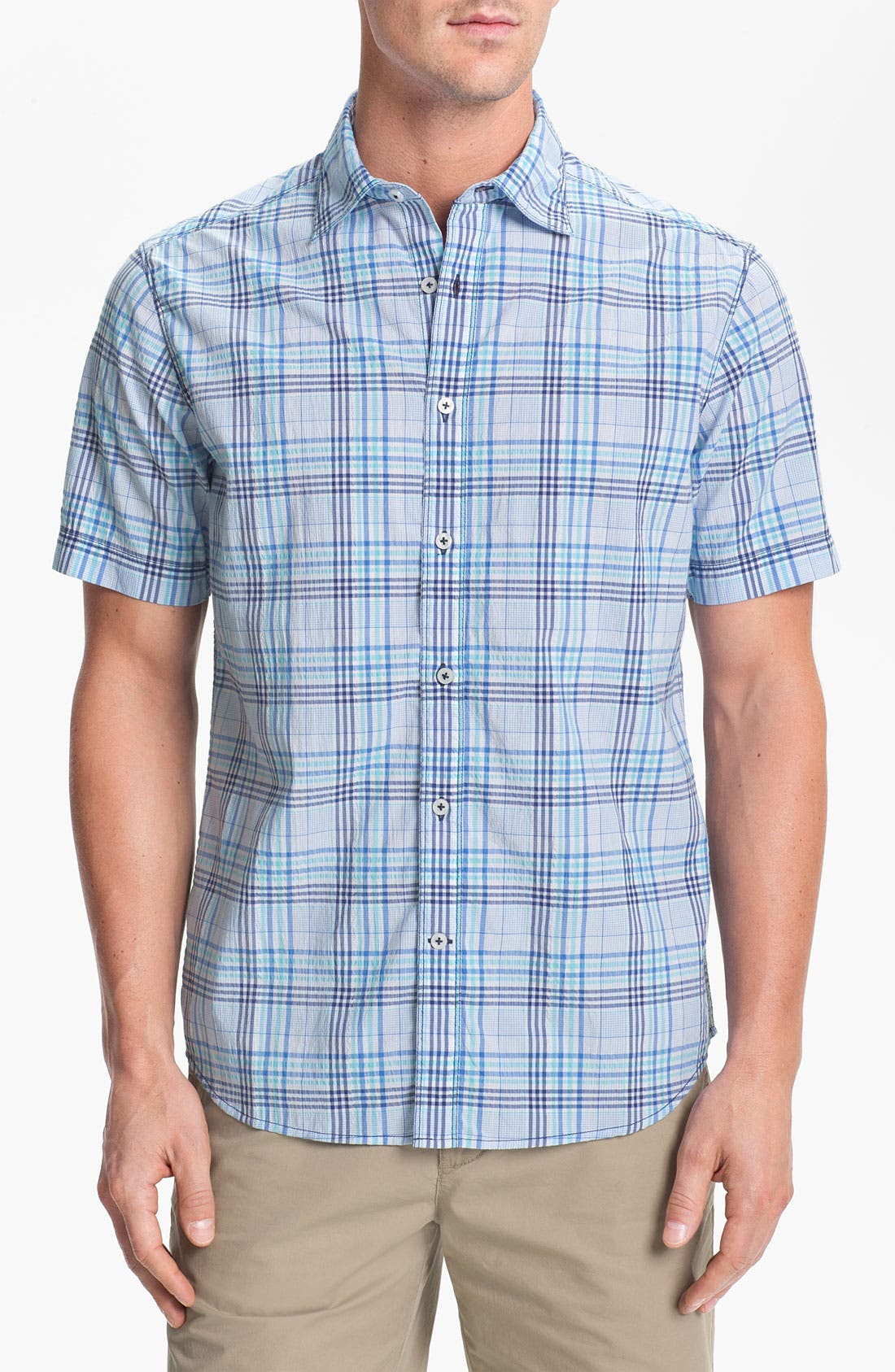 Main Image - James Campbell 'Yupon Plaid' Sport Shirt