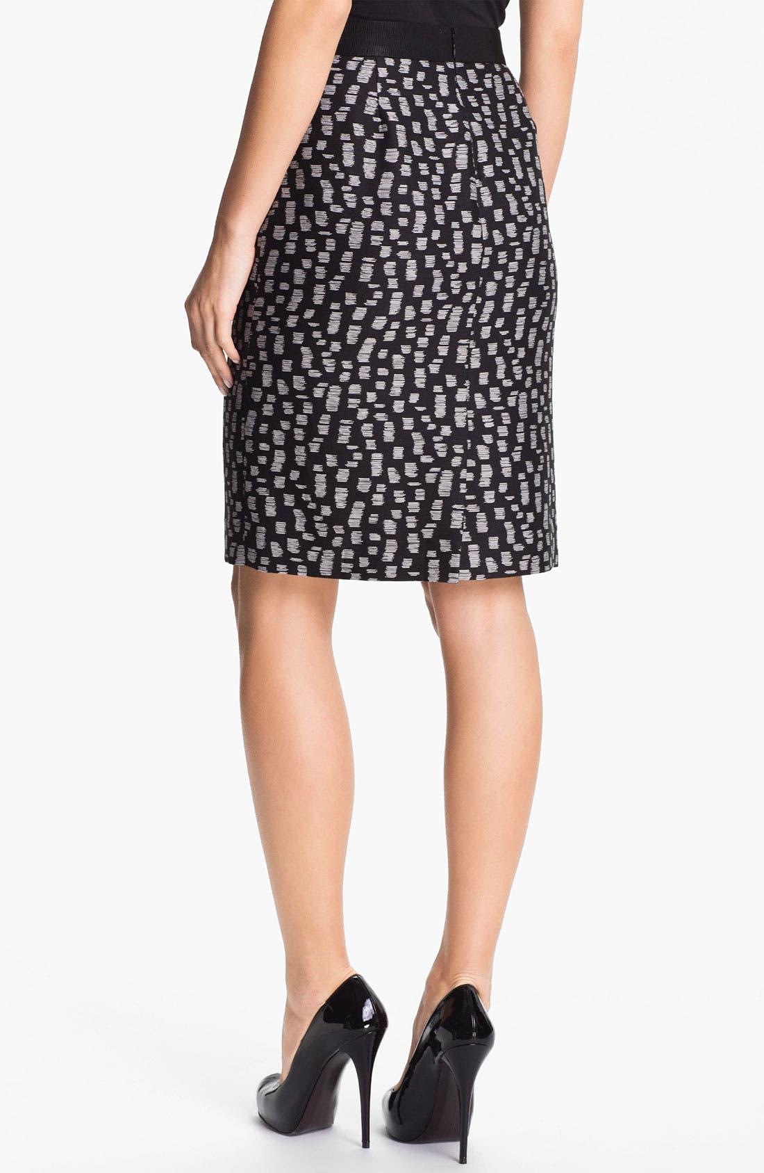 Alternate Image 2  - Classiques Entier® 'Campania' Jacquard Skirt