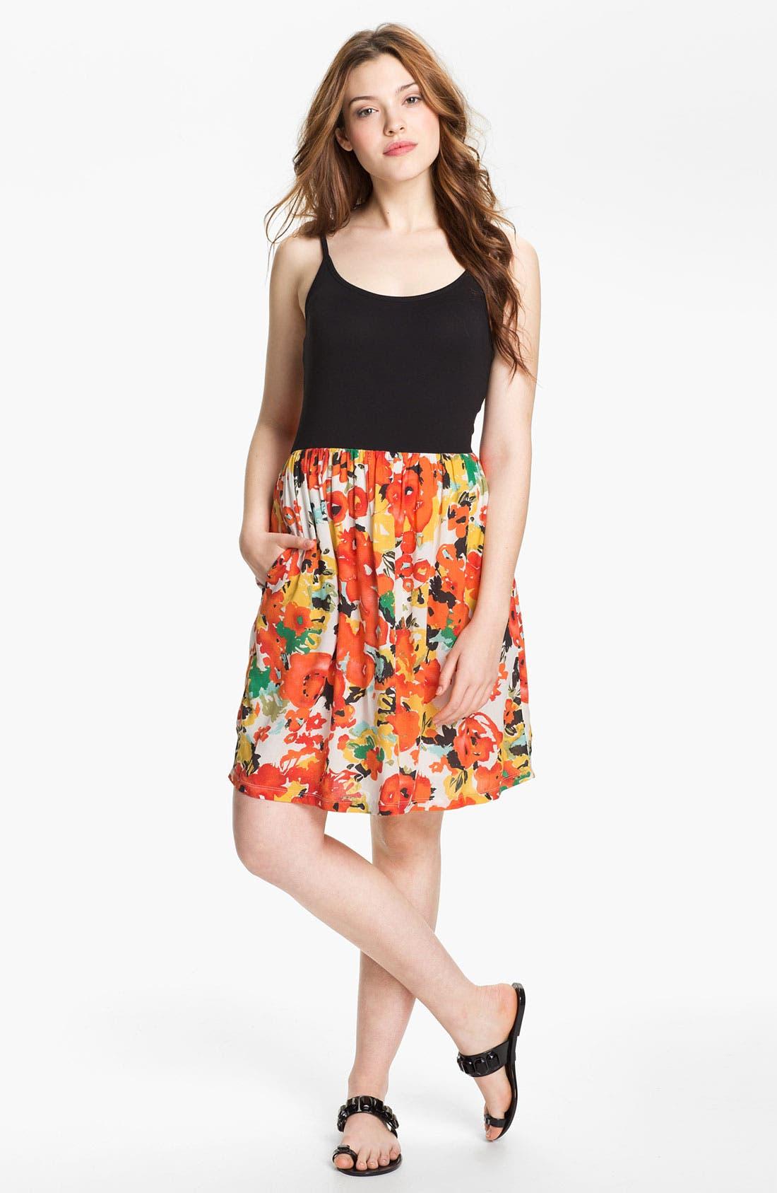 Main Image - Caslon® Mixed Media Dress
