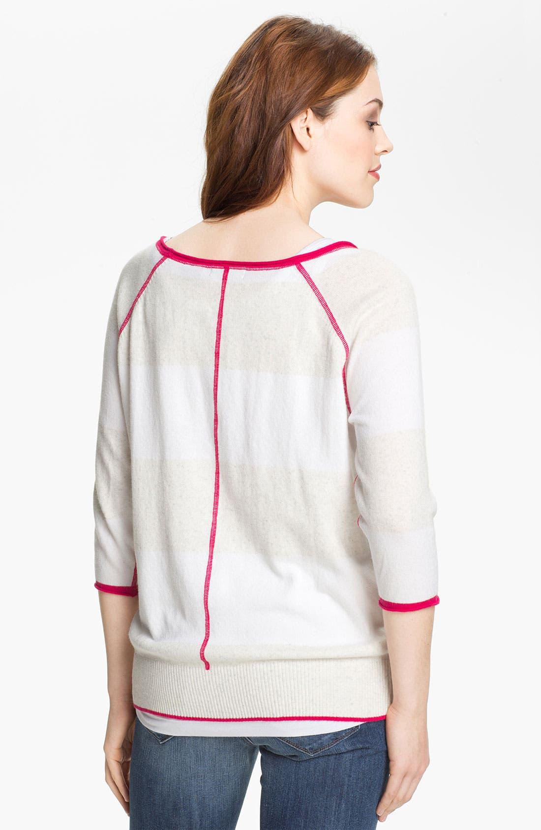 Alternate Image 2  - Press Contrast Trim Sweater