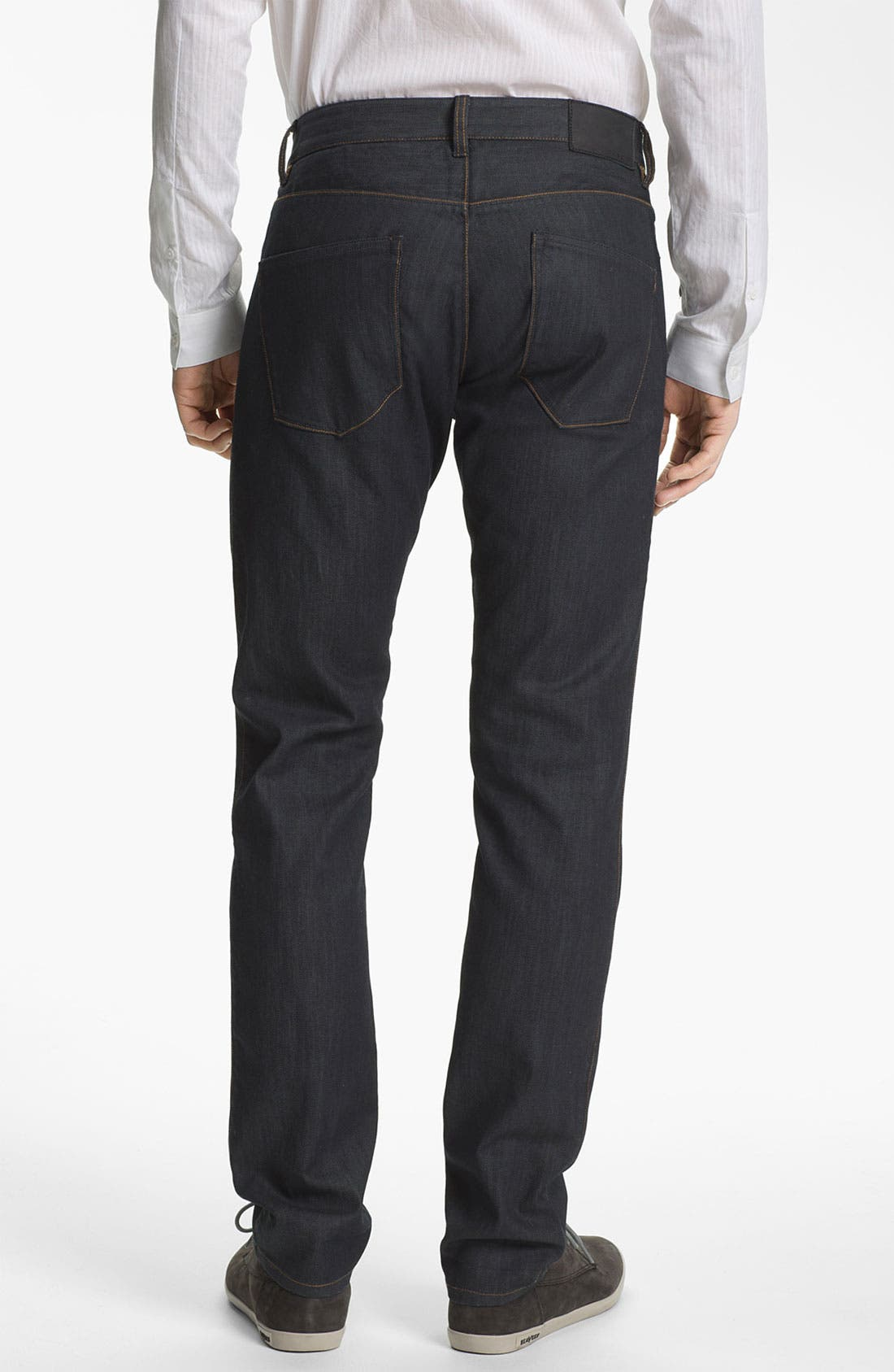 Alternate Image 2  - Theory 'Raffi P. Gunstock' Straight Leg Jeans (Indigo)