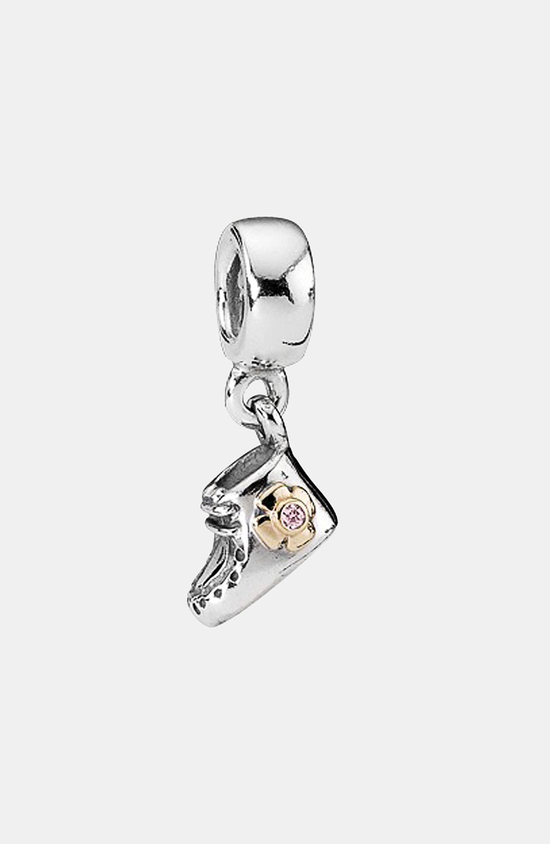 Alternate Image 1 Selected - PANDORA Baby Bootie Dangle Charm