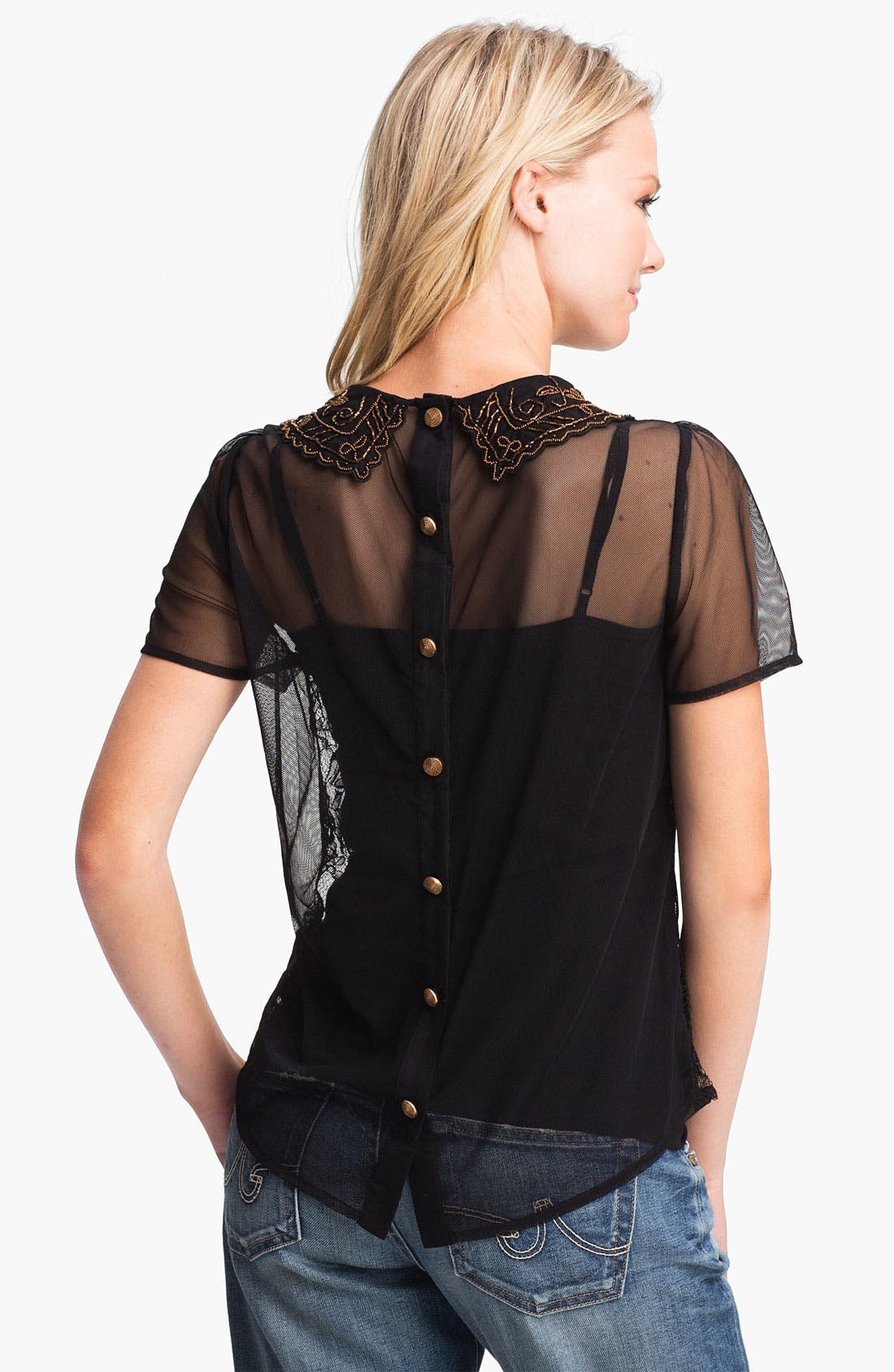Alternate Image 2  - Remain Embellished Collar Lace Shirt