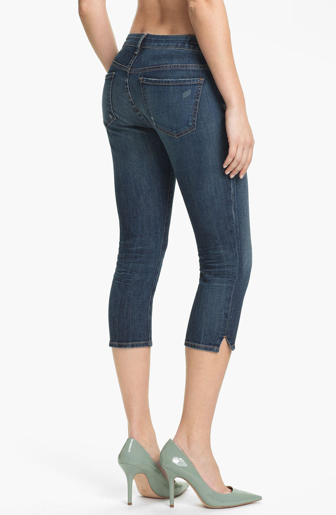 Alternate Image 2  - Citizens of Humanity 'Racer' Crop Skinny Jeans (Slash)