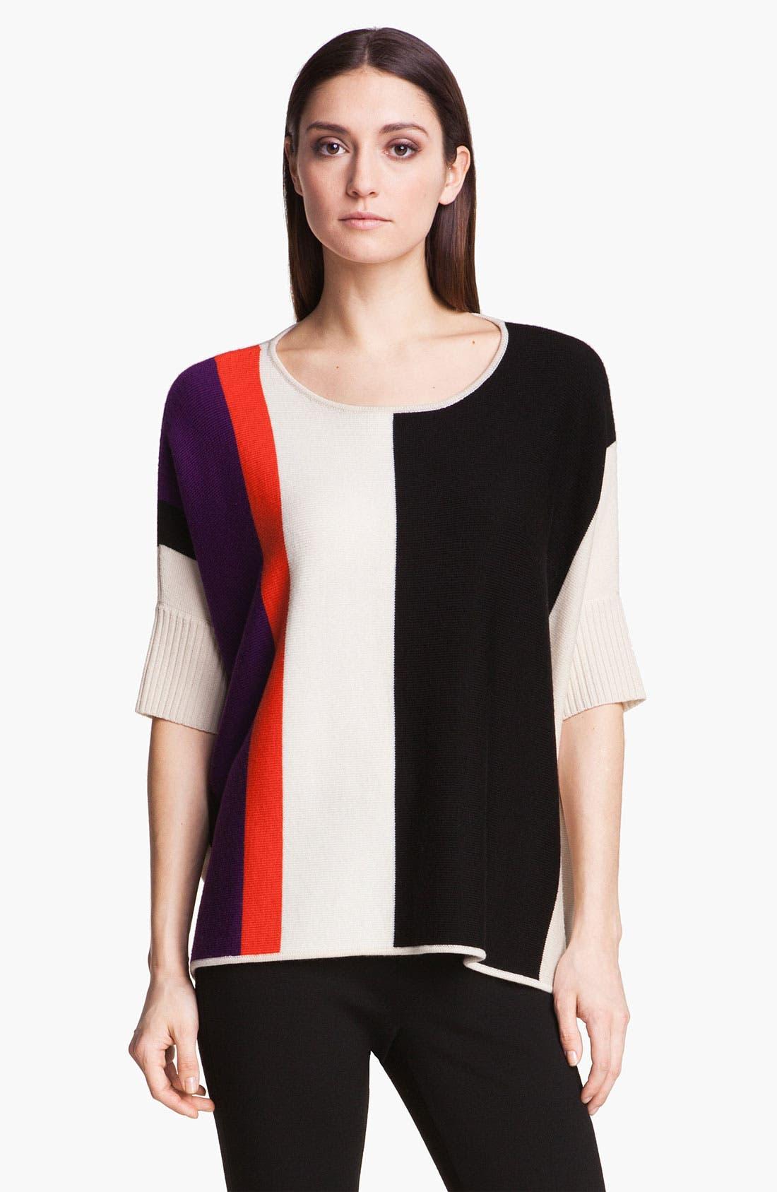Alternate Image 1 Selected - St. John Yellow Label Colorblock Sweater