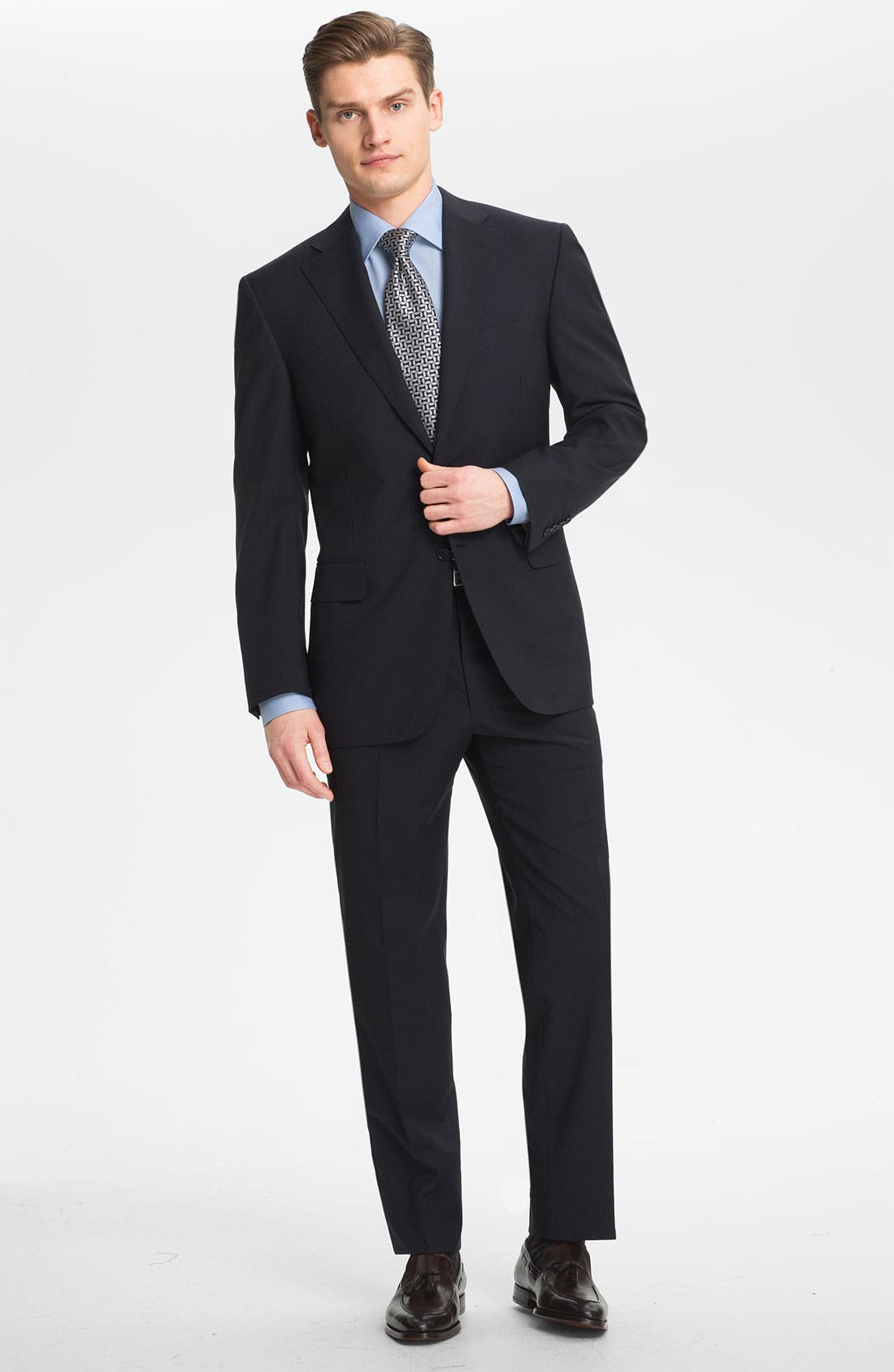 Alternate Image 2  - Canali Stripe Wool Suit