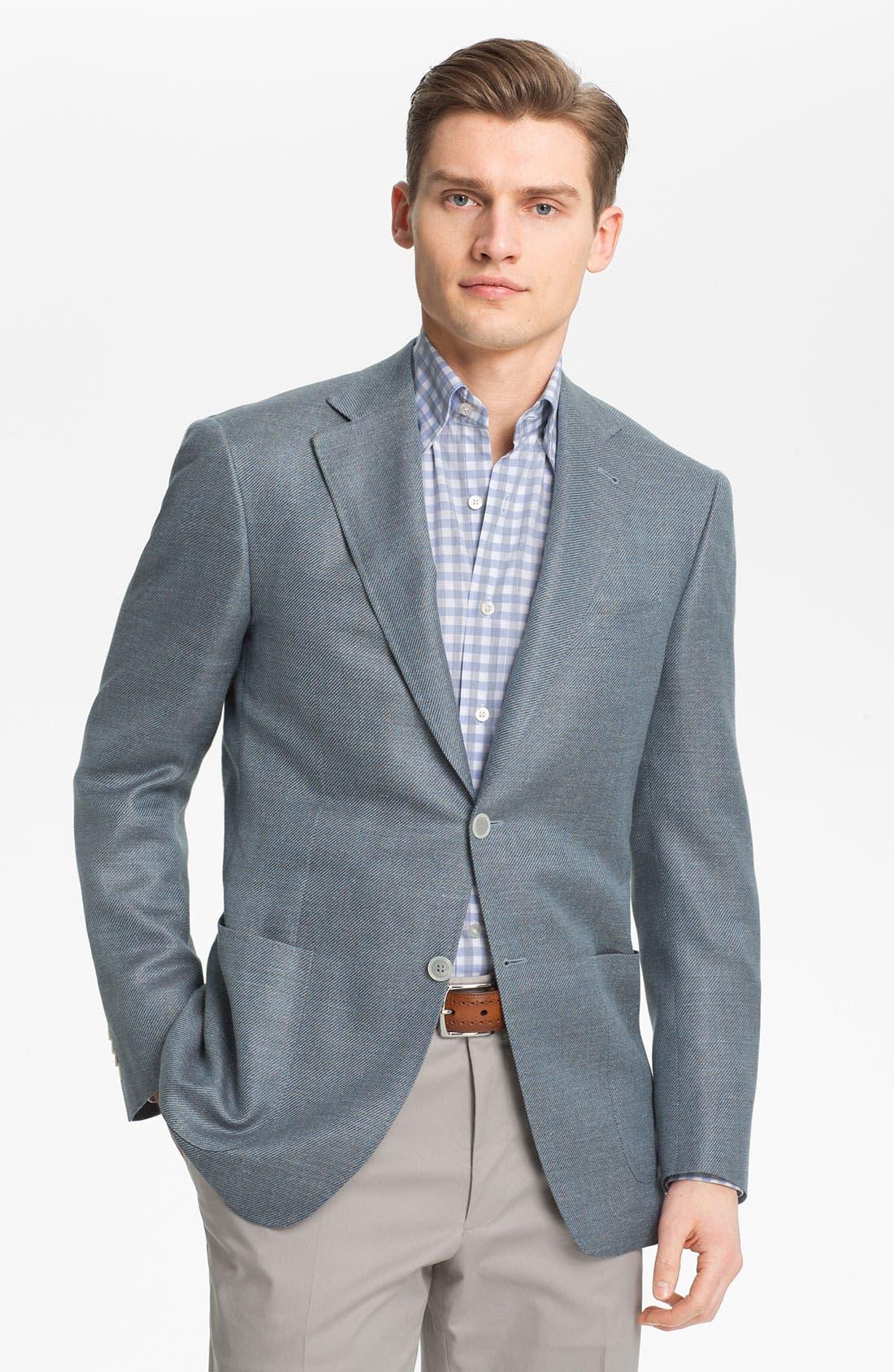 Main Image - Canali 'Kei' Wool Blend Blazer