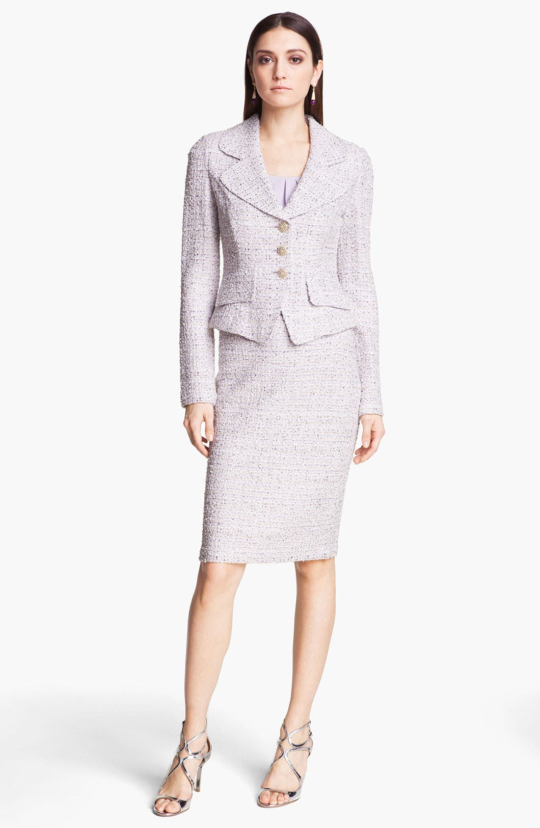 Alternate Image 2  - St. John Collection Tweed Pencil Skirt