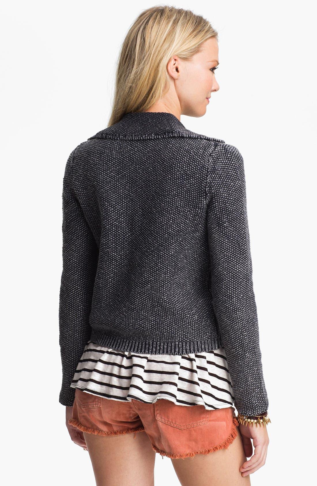Alternate Image 2  - Free People 'Warm & Cool' Sweater Knit Moto Jacket