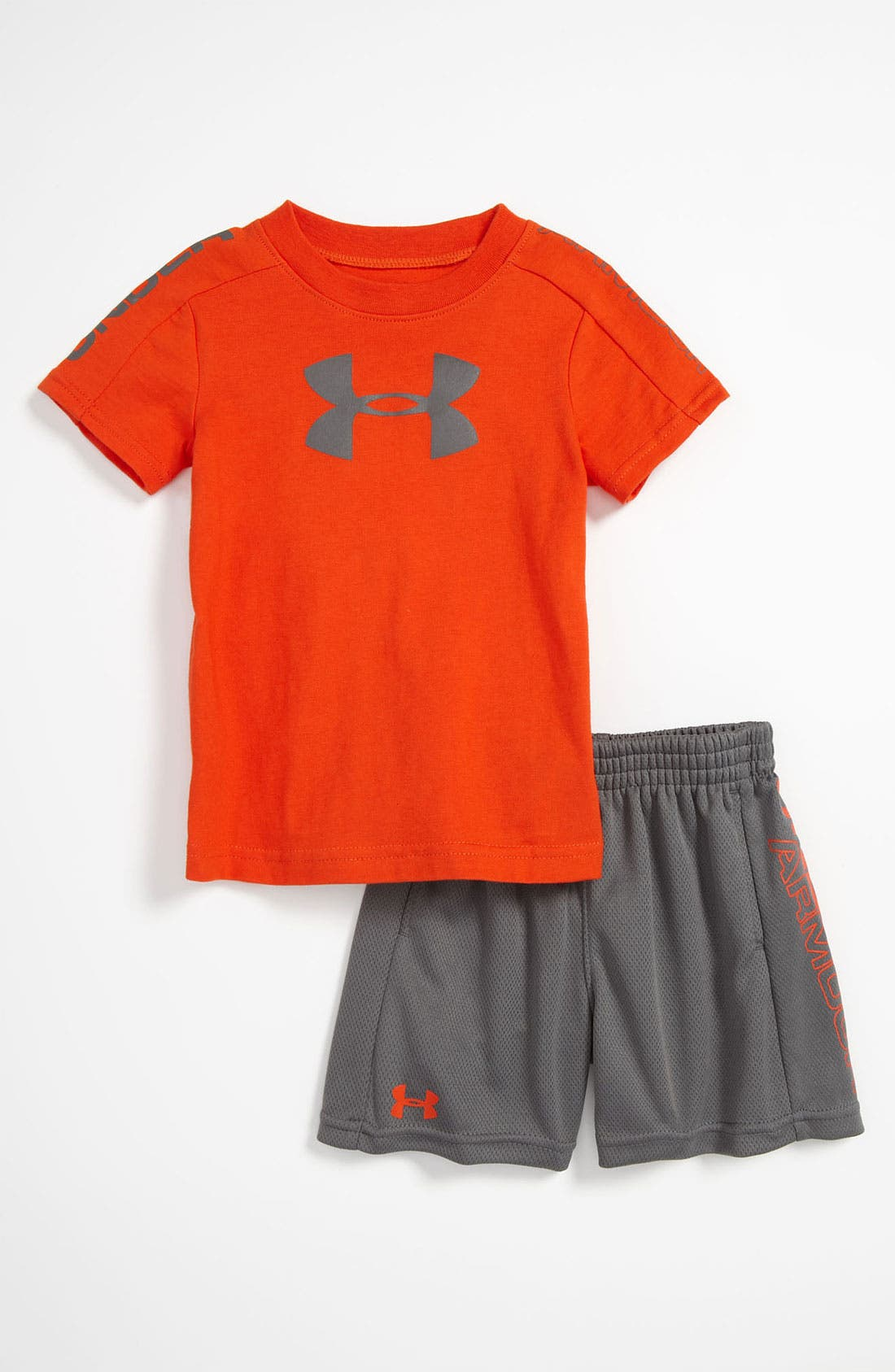 Alternate Image 1 Selected - Under Armour 'Integrity 2.0' T-Shirt & Shorts (Infant)