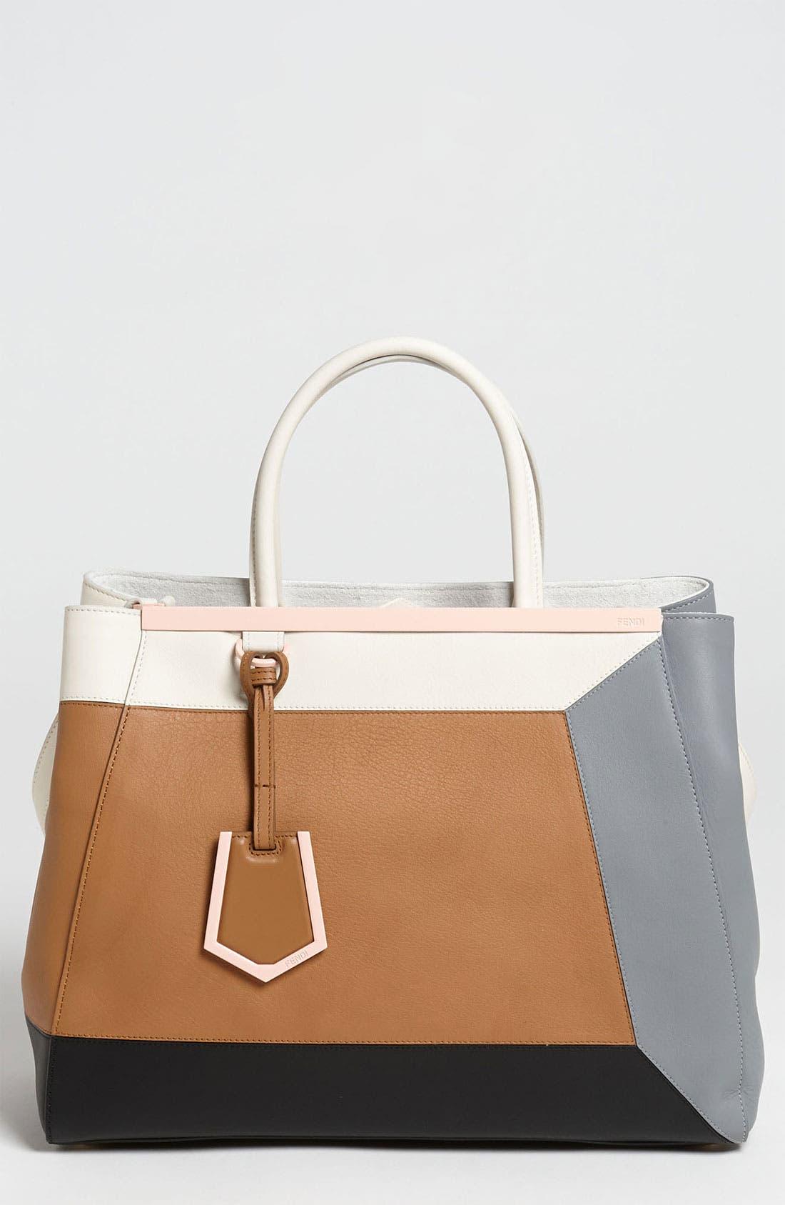 Alternate Image 1 Selected - Fendi '2Jours 3D - Medium' Leather Shopper