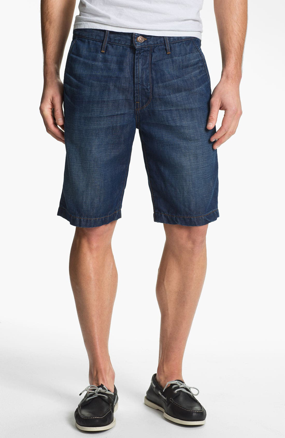 Main Image - 7 For All Mankind® Cotton & Linen Denim Shorts