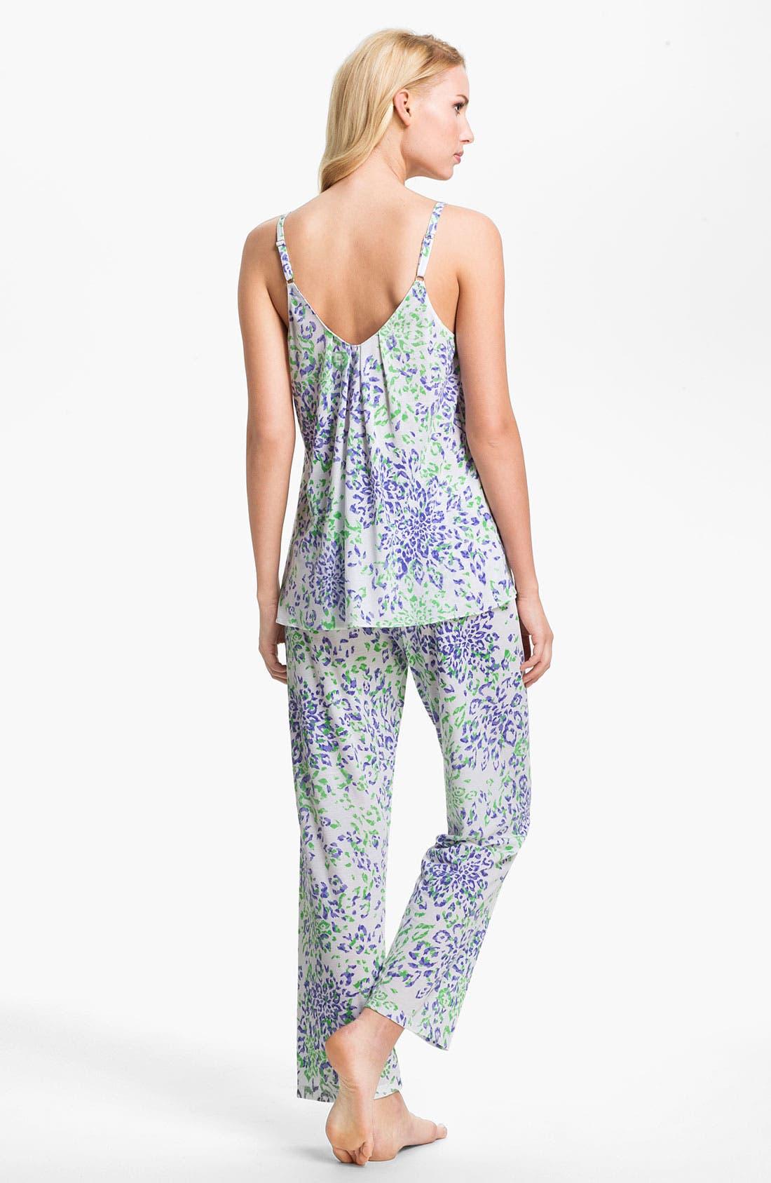 Alternate Image 2  - Oscar de la Renta Sleepwear 'Animal Blossom' Print Pajamas