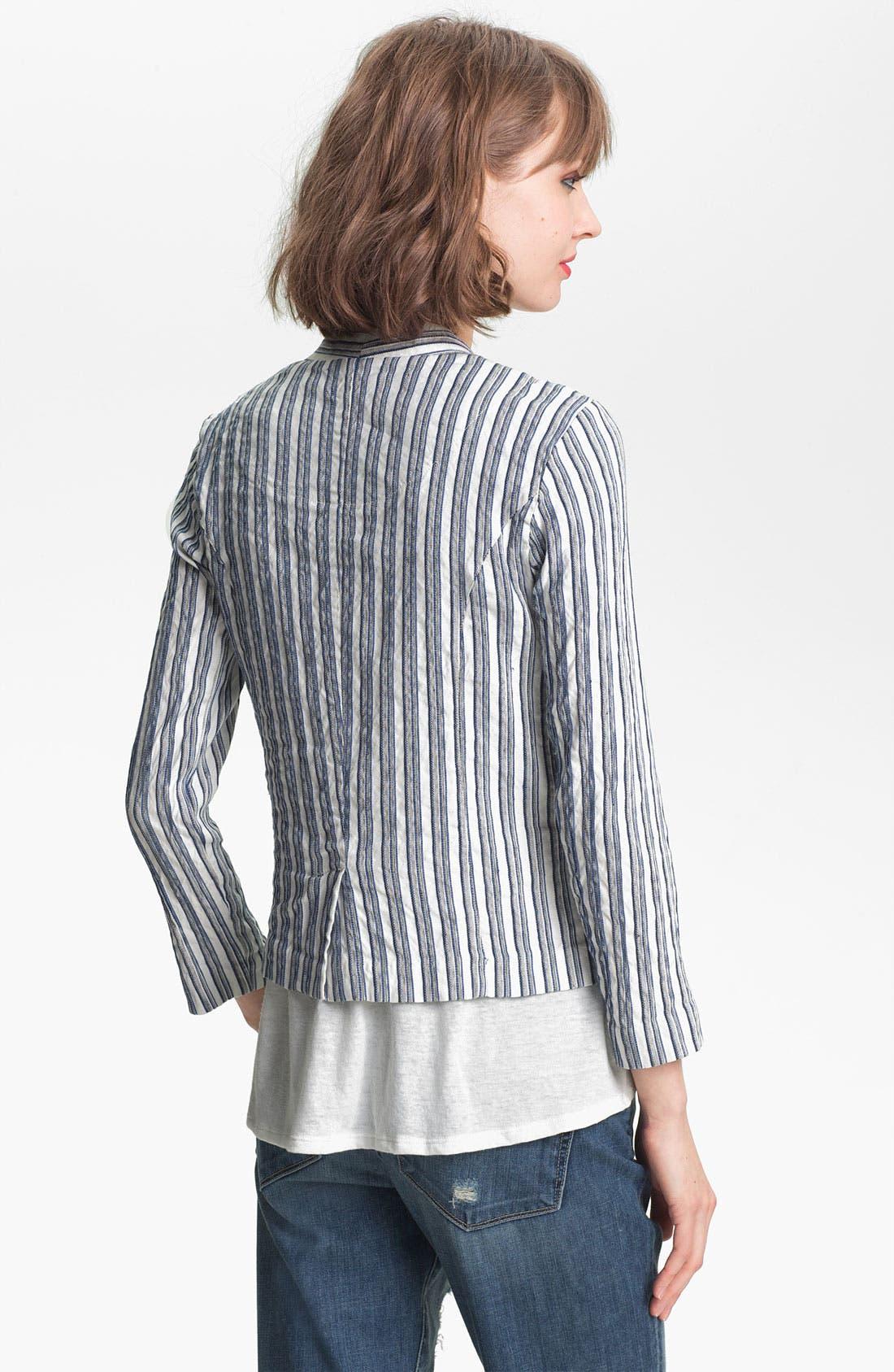 Alternate Image 2  - Ella Moss 'Kaycee' Stripe Jacket