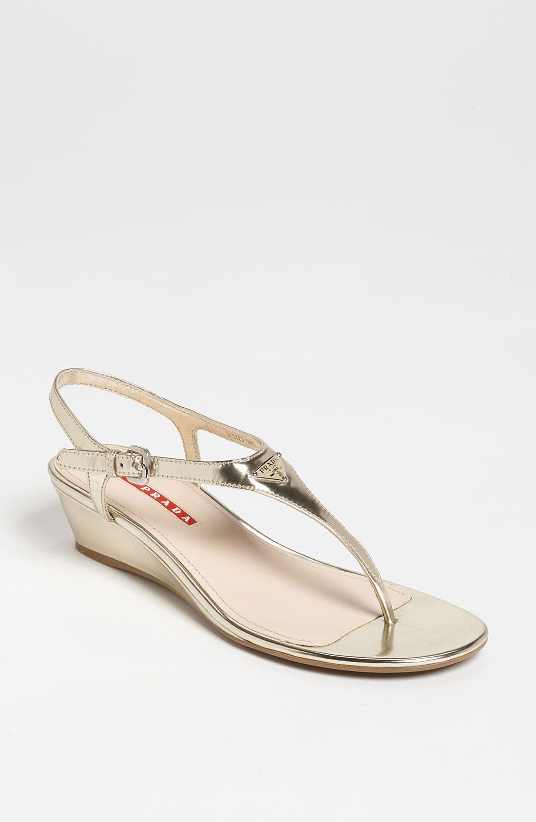 Alternate Image 1 Selected - Prada Logo Wedge Sandal