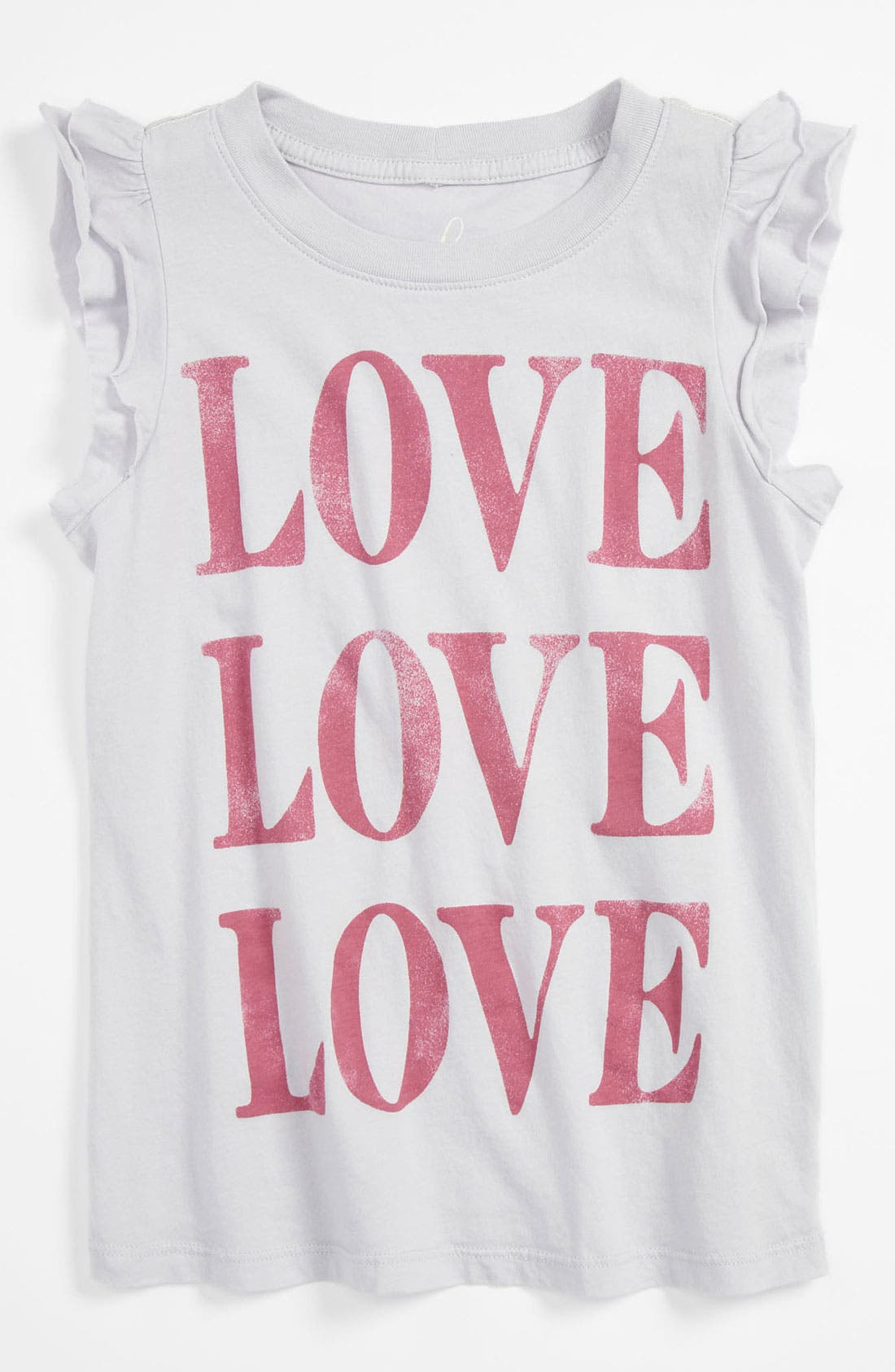 Alternate Image 1 Selected - Peek 'Love' Tee (Toddler, Little Girls & Big Girls)