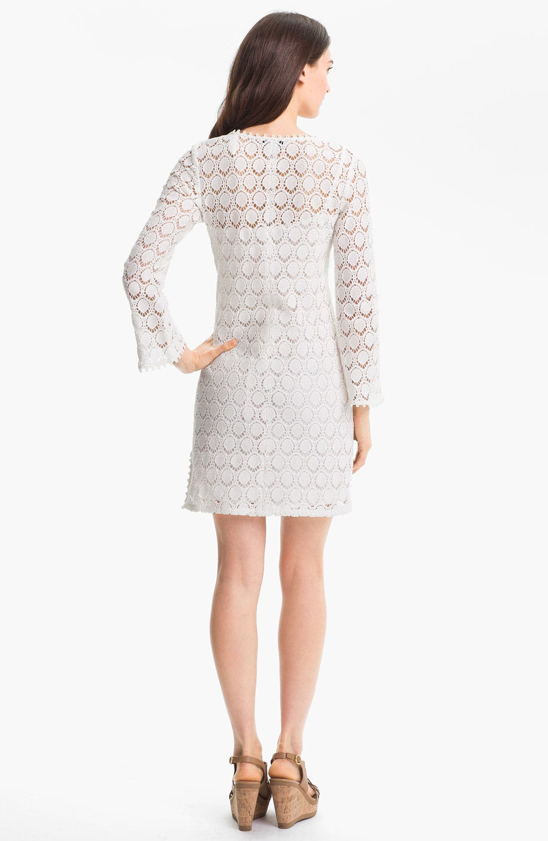 Alternate Image 2  - Trina Turk 'Deep Sea' Lace Cotton Shift Dress