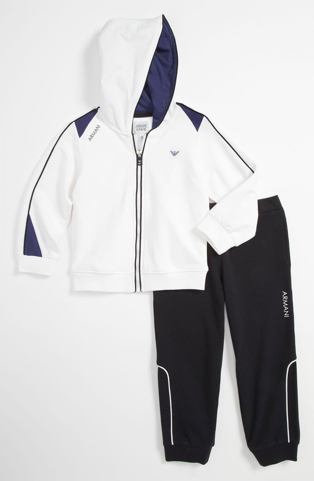 Main Image - Armani Junior Jacket & Pants (Toddler & Little Boys)