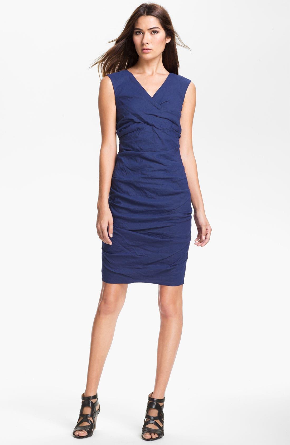 Main Image - Eileen Fisher 'Cotton Steel' Faux Wrap Dress