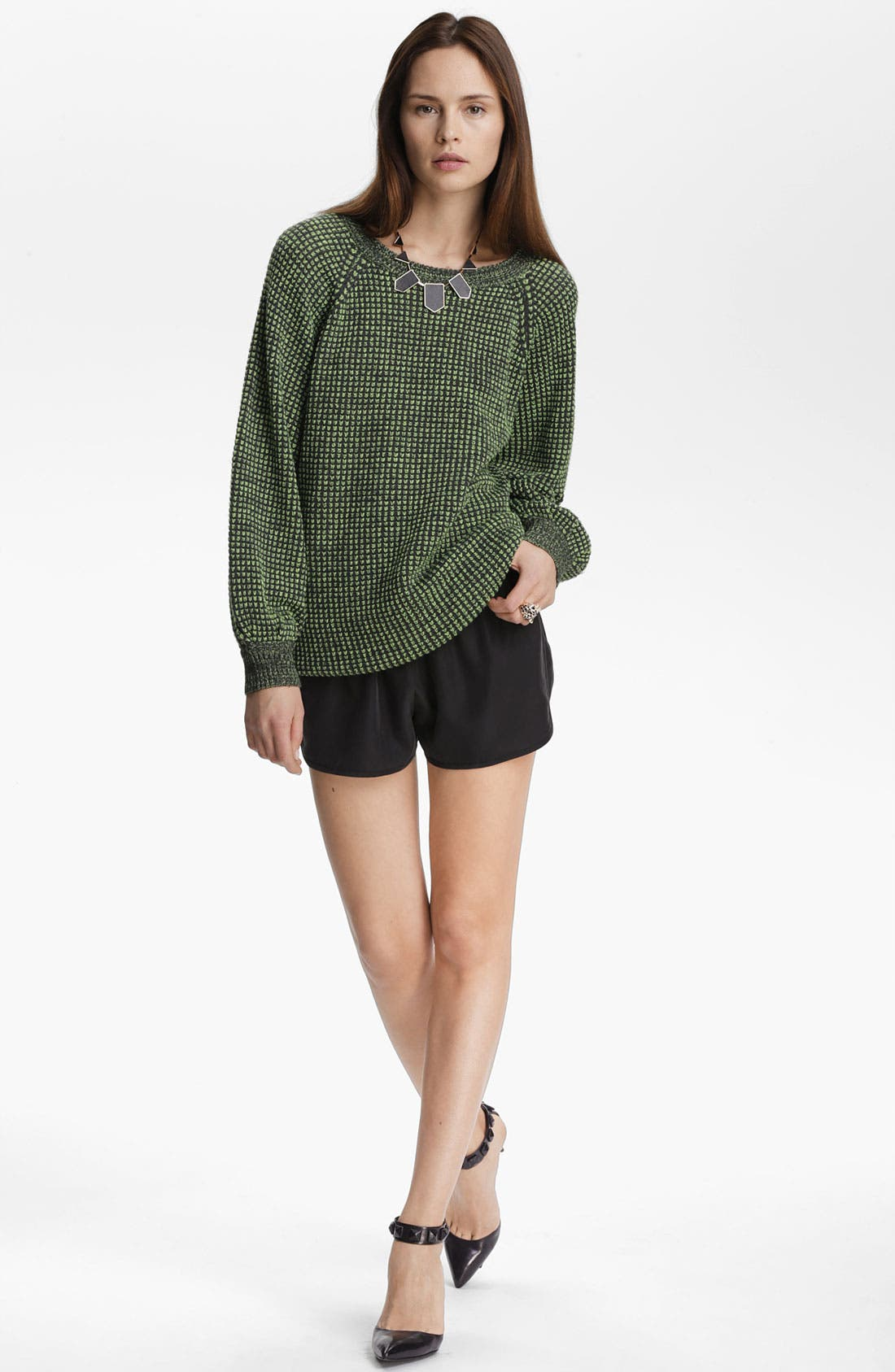 Alternate Image 2  - Leith 'Track' Geometrical Knit Pullover