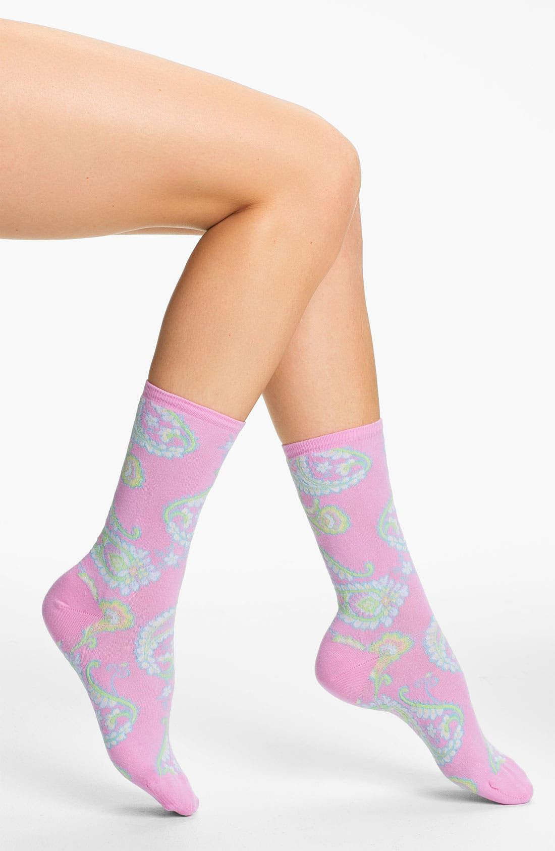 Main Image - Ralph Lauren Paisley Crew Socks