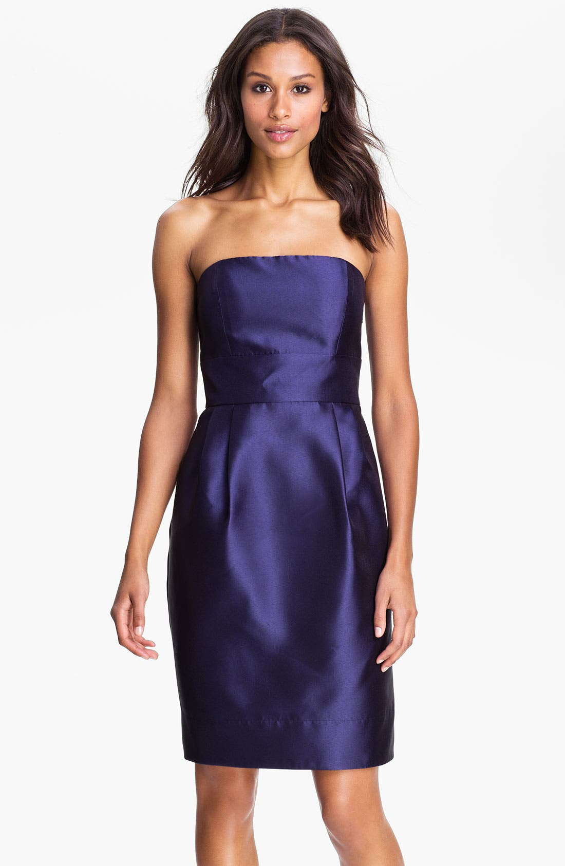 Main Image - Eliza J Strapless Taffeta Sheath Dress