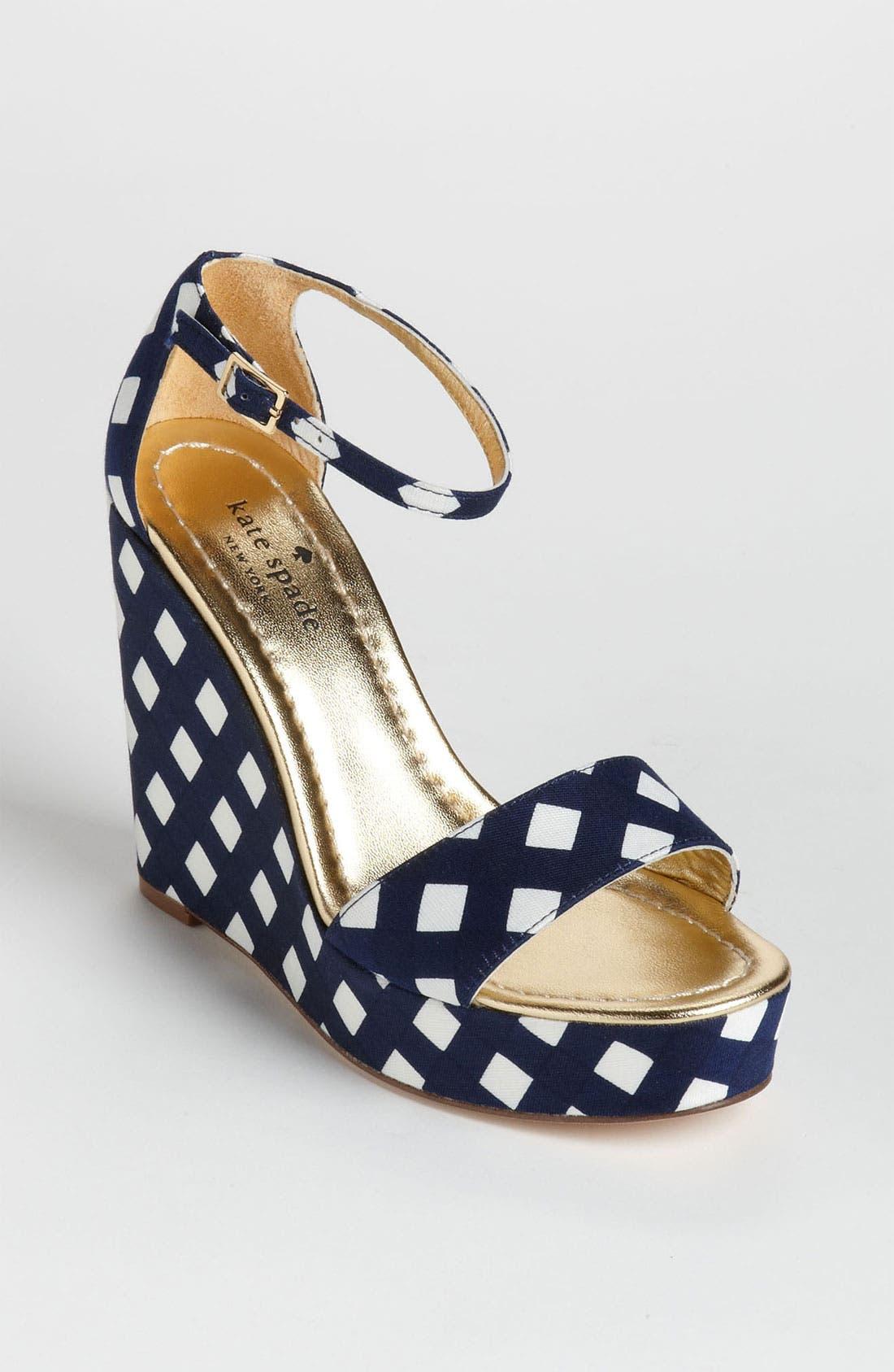 Alternate Image 1 Selected - kate spade new york 'dabney' wedge sandal