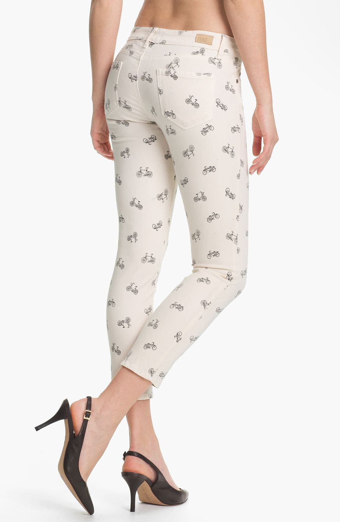 Alternate Image 2  - Paige Denim 'Kylie' Print Crop Skinny Leg Jeans (Cream Retro Cruiser)
