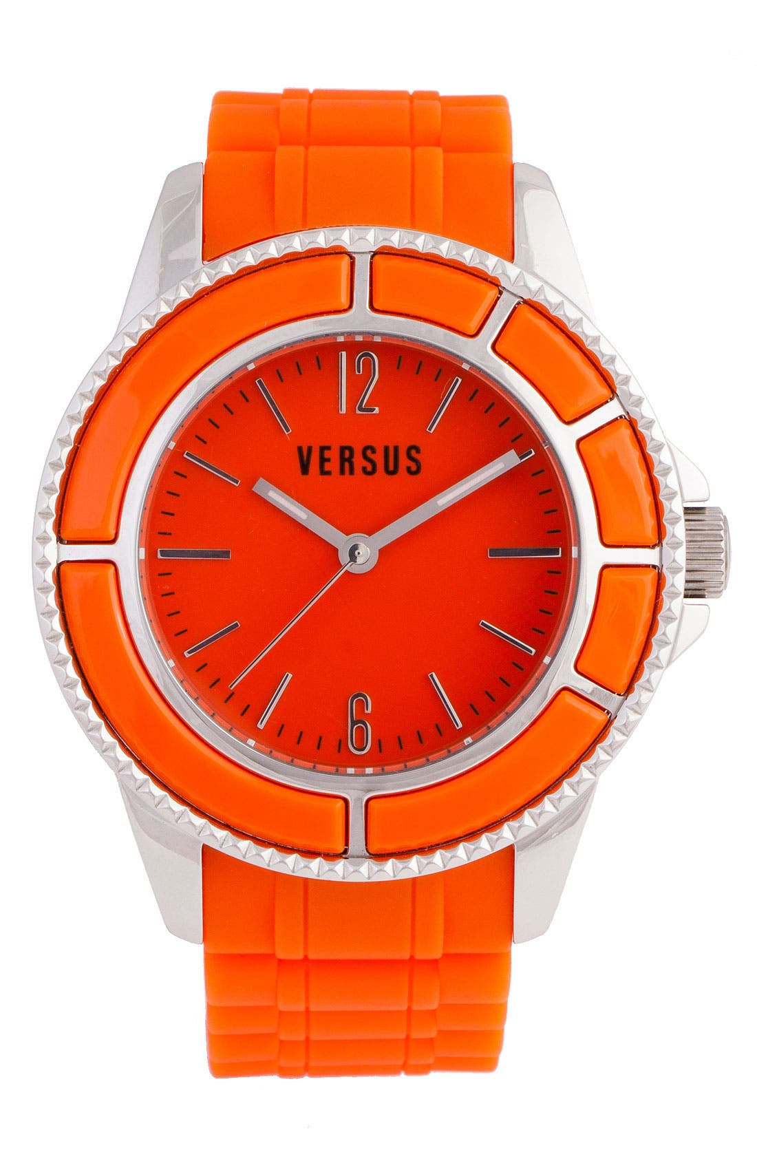 Alternate Image 1 Selected - VERSUS by Versace 'Tokyo' Rubber Strap Watch, 42mm