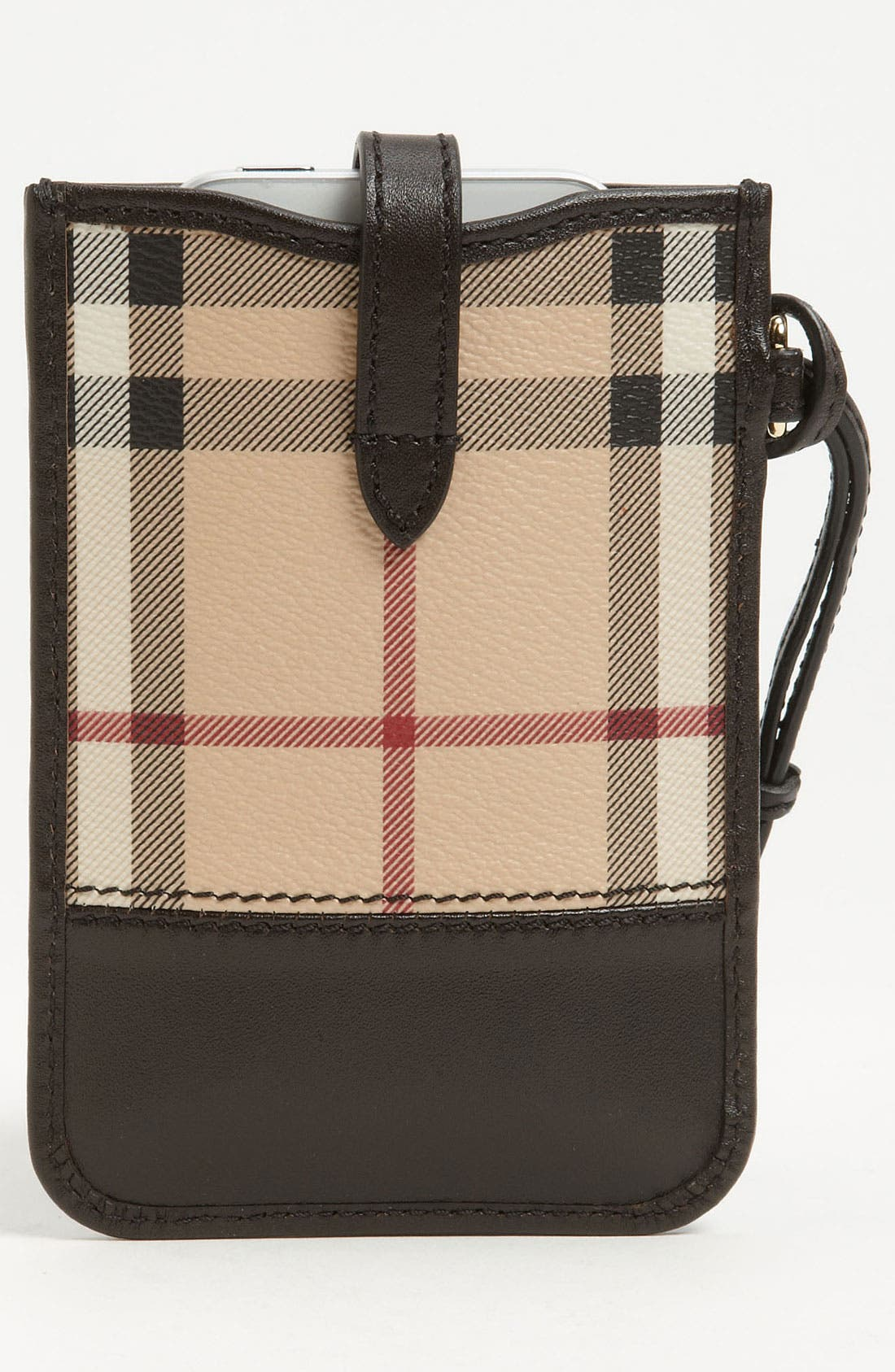 Alternate Image 4  - Burberry 'Haymarket Check' iPhone Wallet