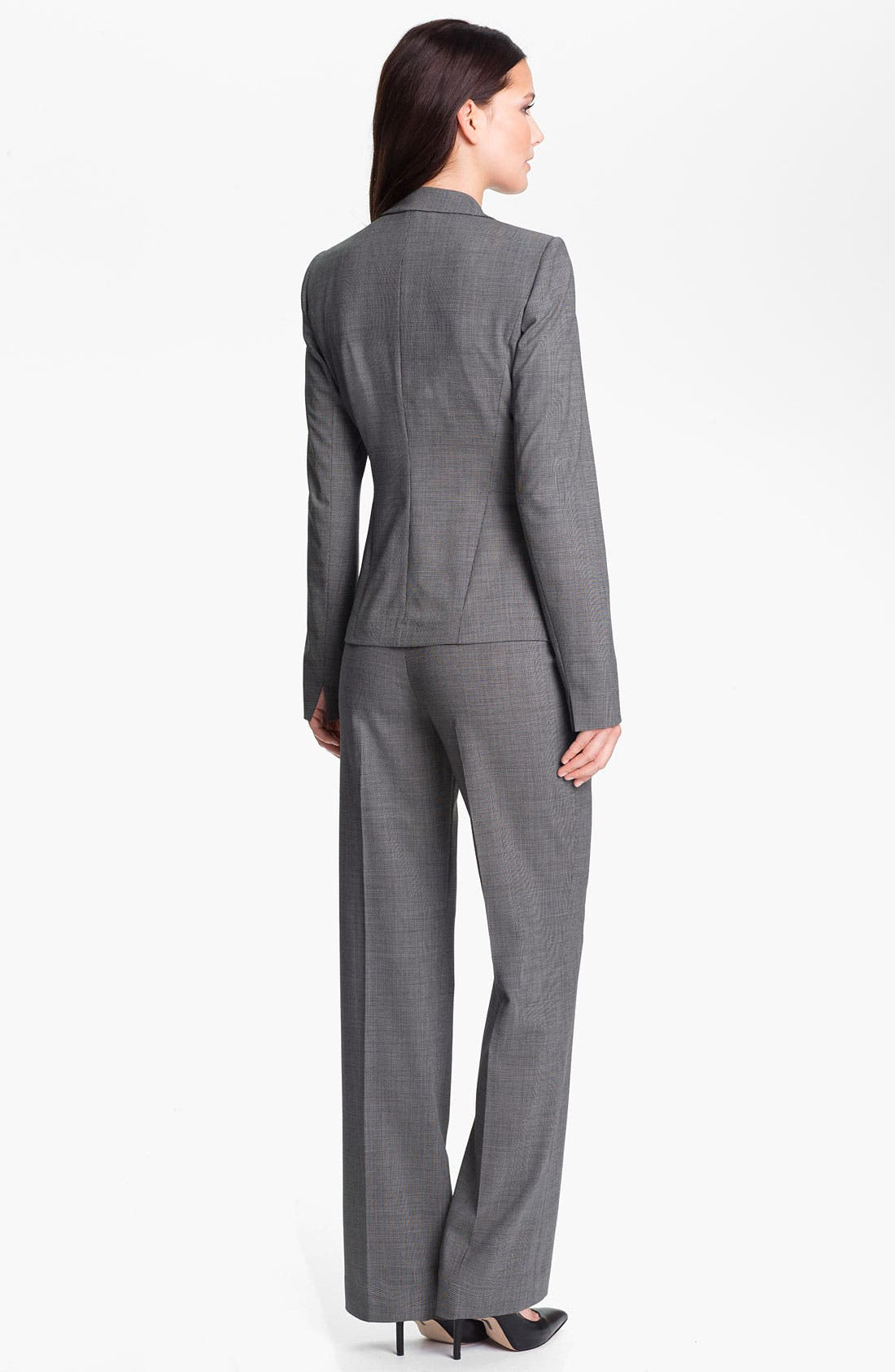 Alternate Image 5  - Lafayette 148 New York Crosshatch Suiting Menswear Pants