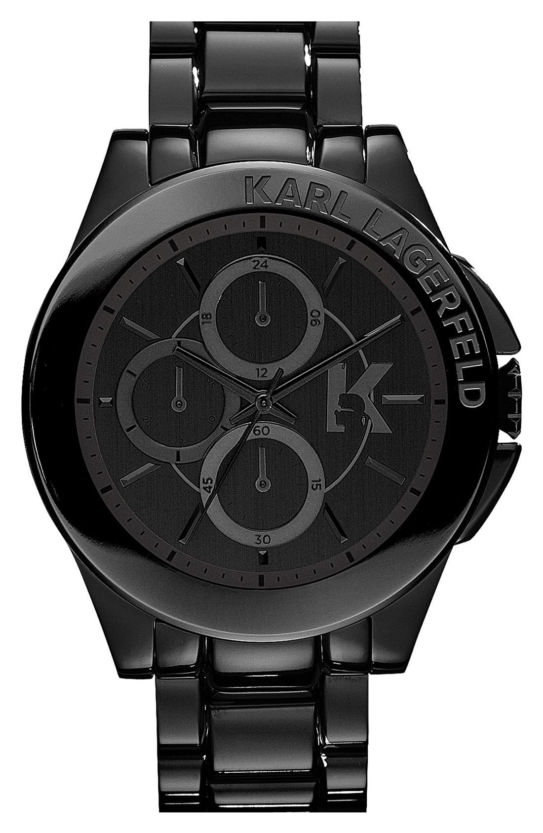 Main Image - KARL LAGERFELD 'Energy' Chronograph Bracelet Watch, 44mm