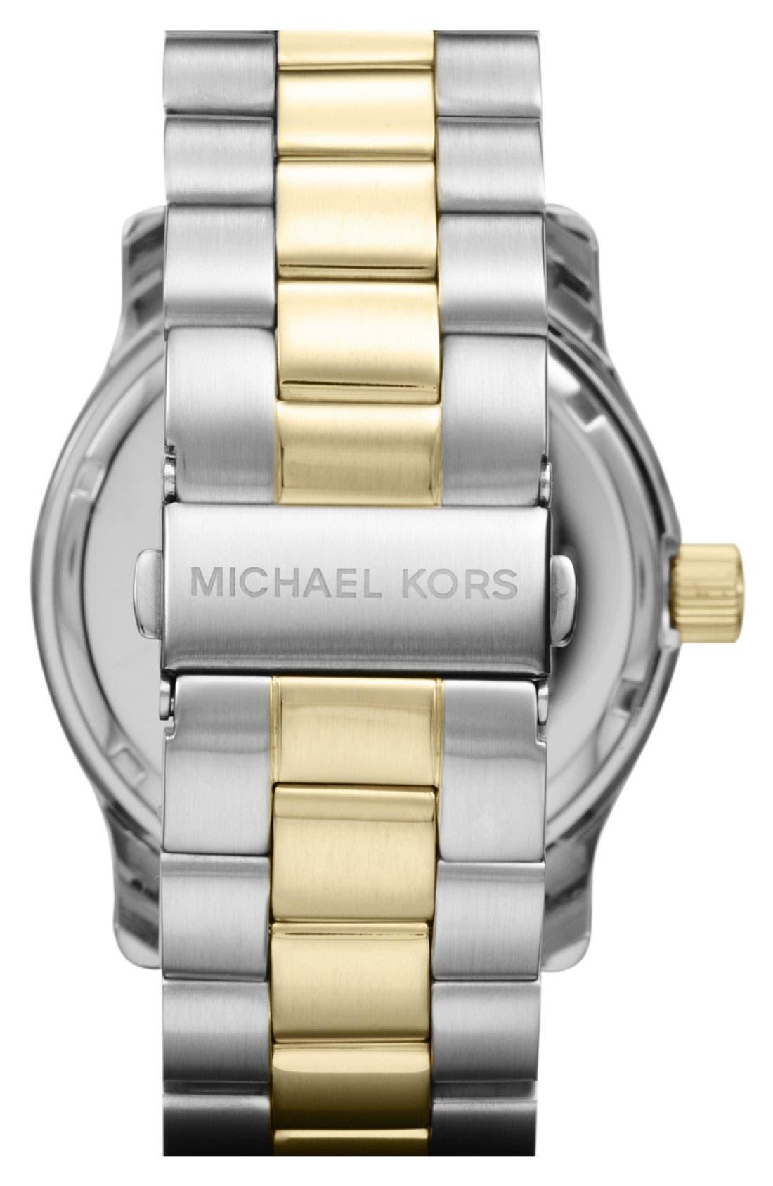 Alternate Image 3  - Michael Kors 'Large Runway' Bracelet Watch, 44mm