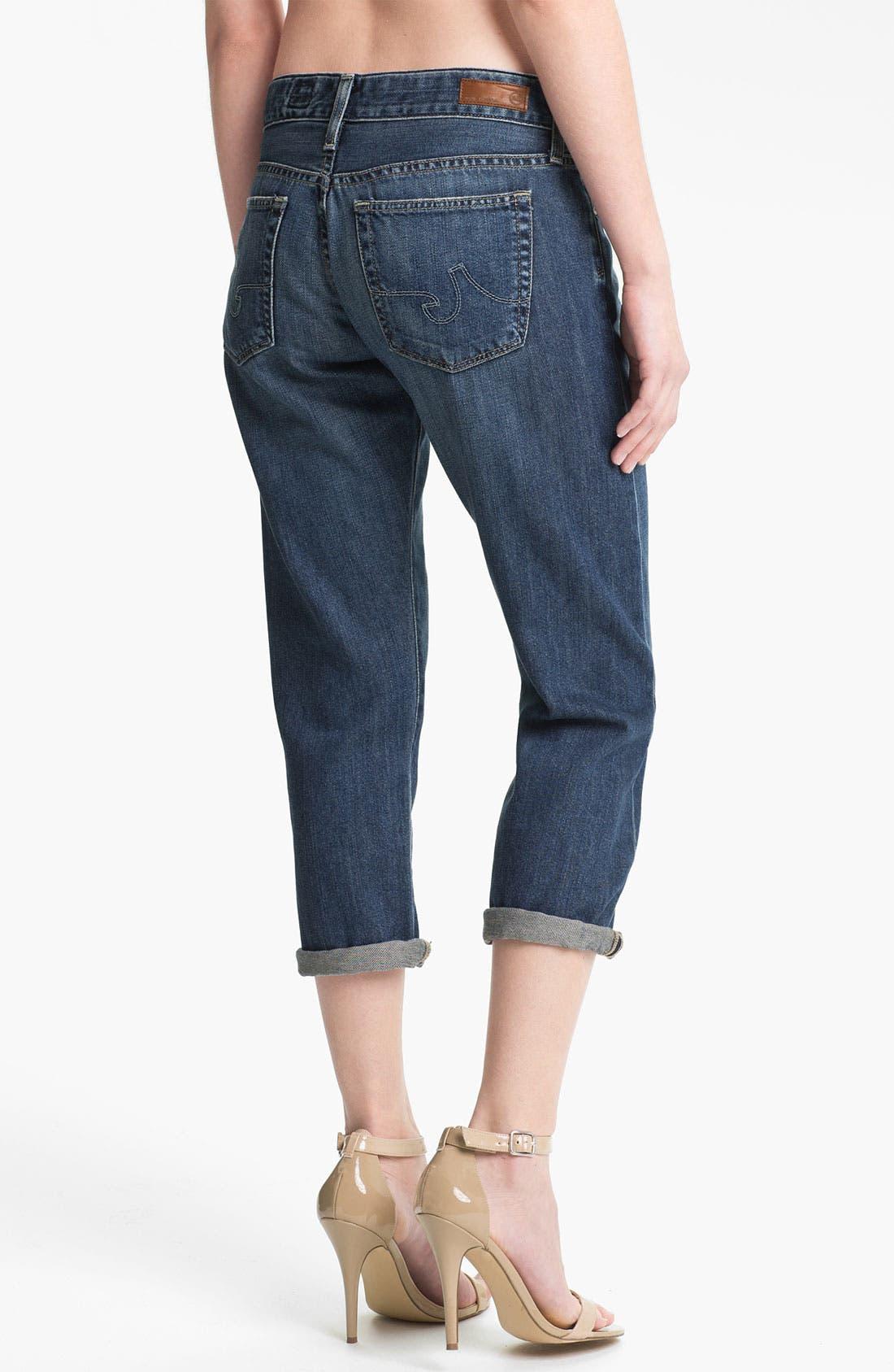 Alternate Image 2  - AG Jeans 'Piper' Crop Slouchy Slim Jeans (Minimalist)