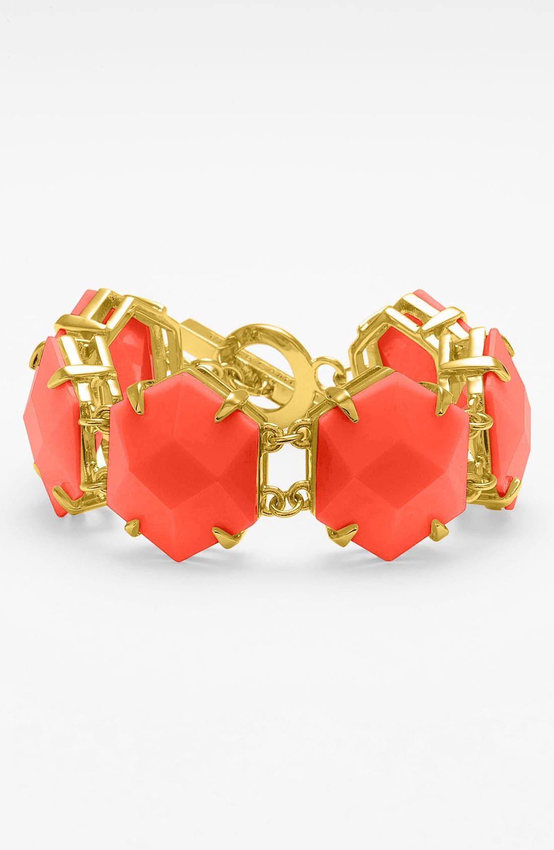 Alternate Image 1 Selected - Vince Camuto 'Bright Gems' Faceted Resin Toggle Bracelet