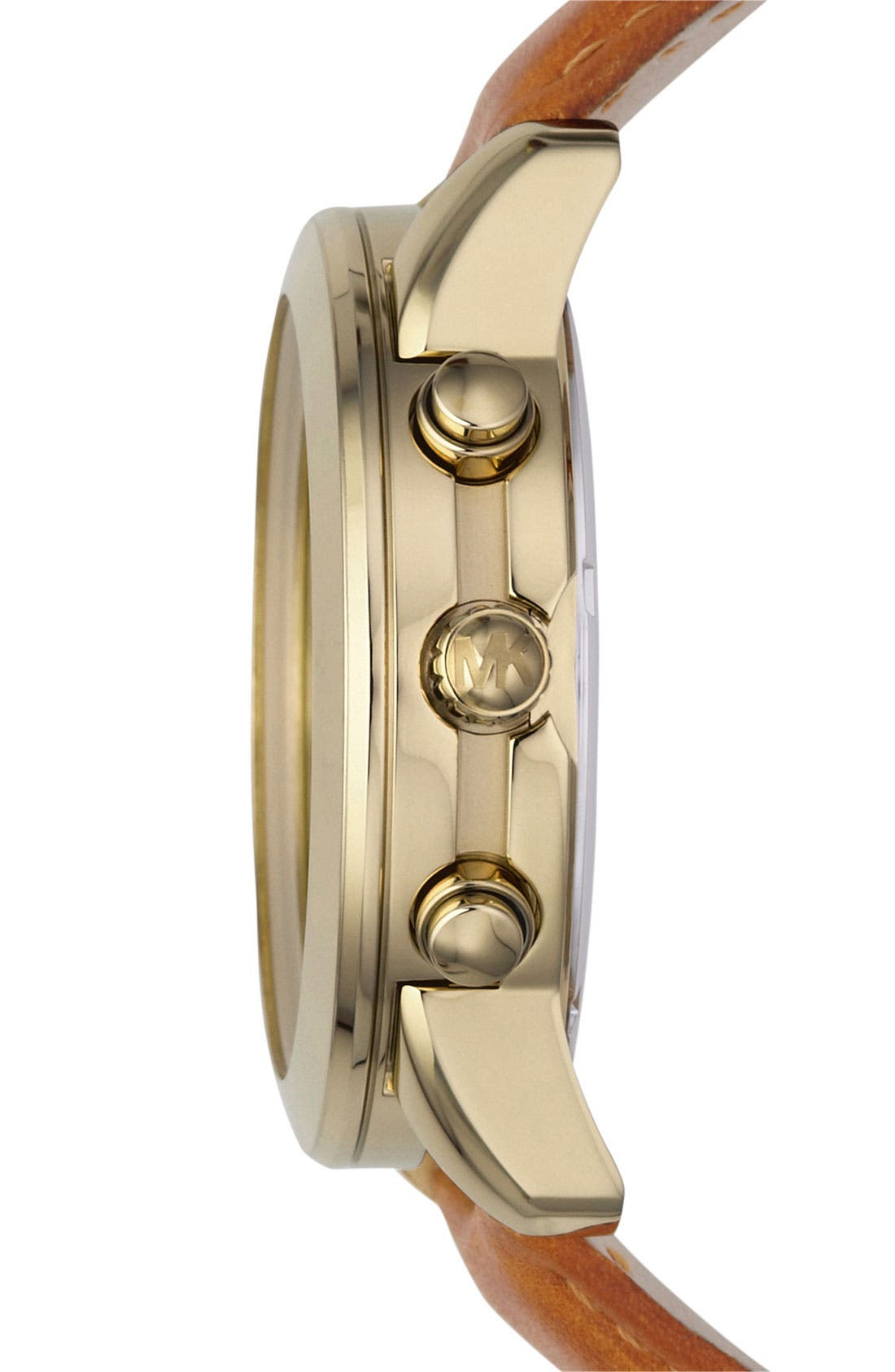 Alternate Image 2  - Michael Kors Chronograph Leather Strap Watch, 41mm