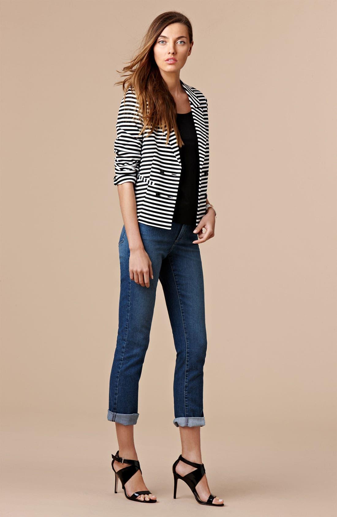Alternate Image 4  - NYDJ 'Tanya' Cuffed Stretch Boyfriend Jeans