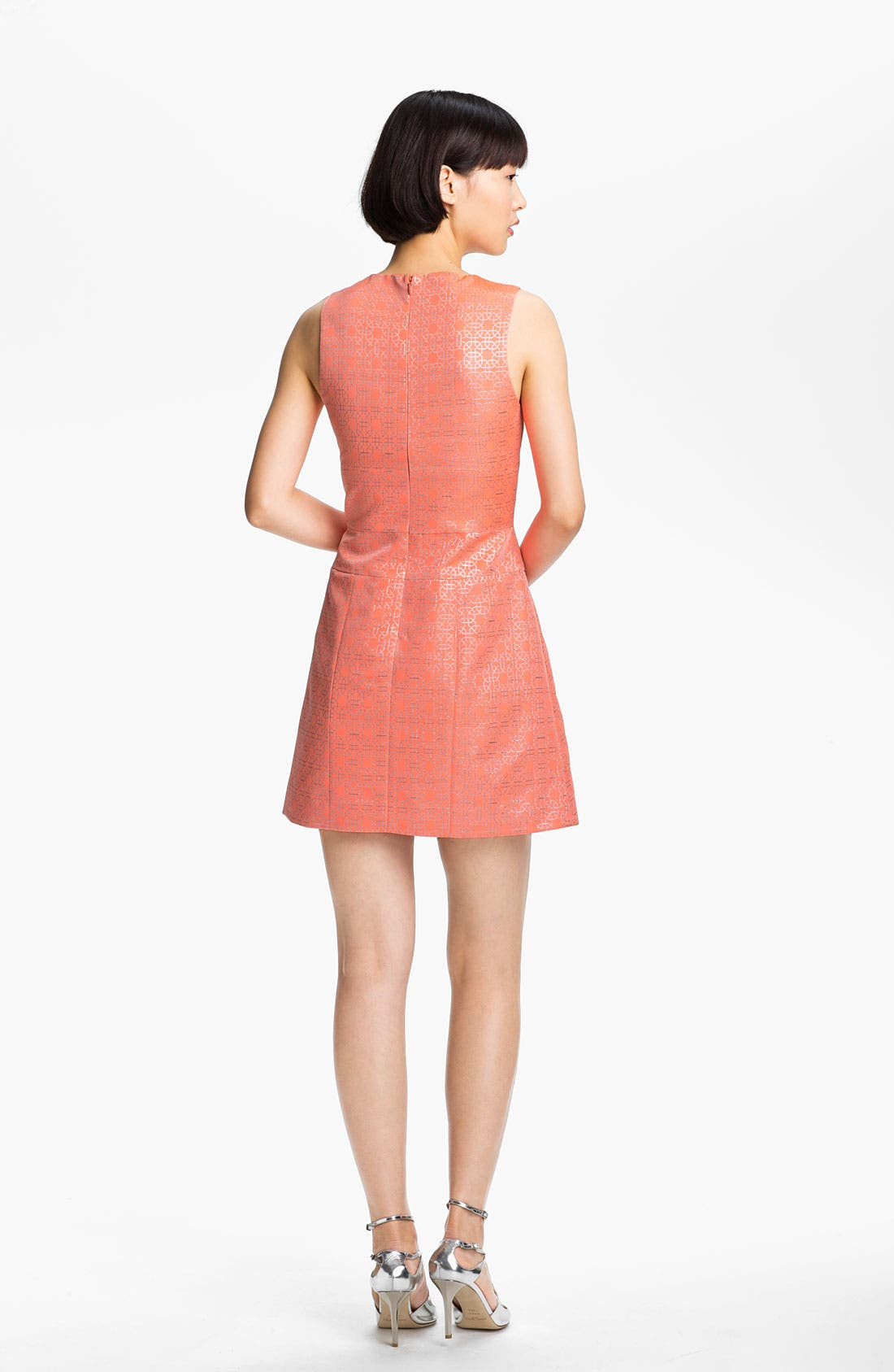 Alternate Image 2  - Tibi Metallic Jacquard Dress