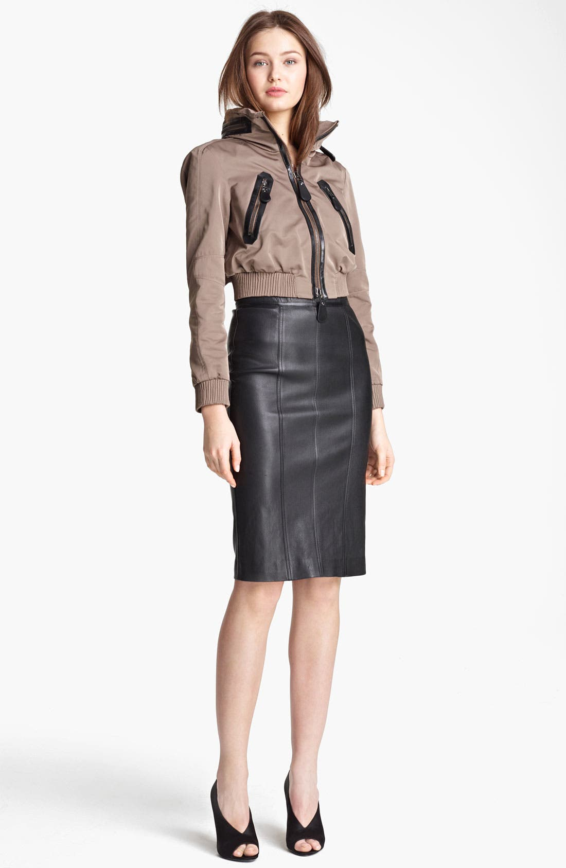Alternate Image 1 Selected - Burberry London Taffeta Crop Jacket