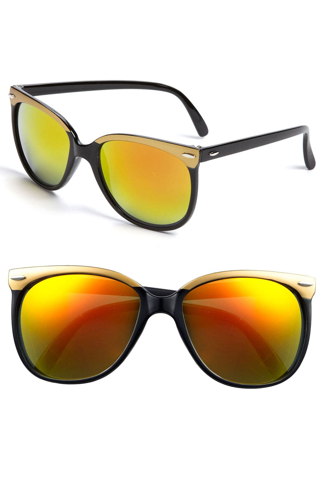 Main Image - BP. Mirrored Retro Sunglasses