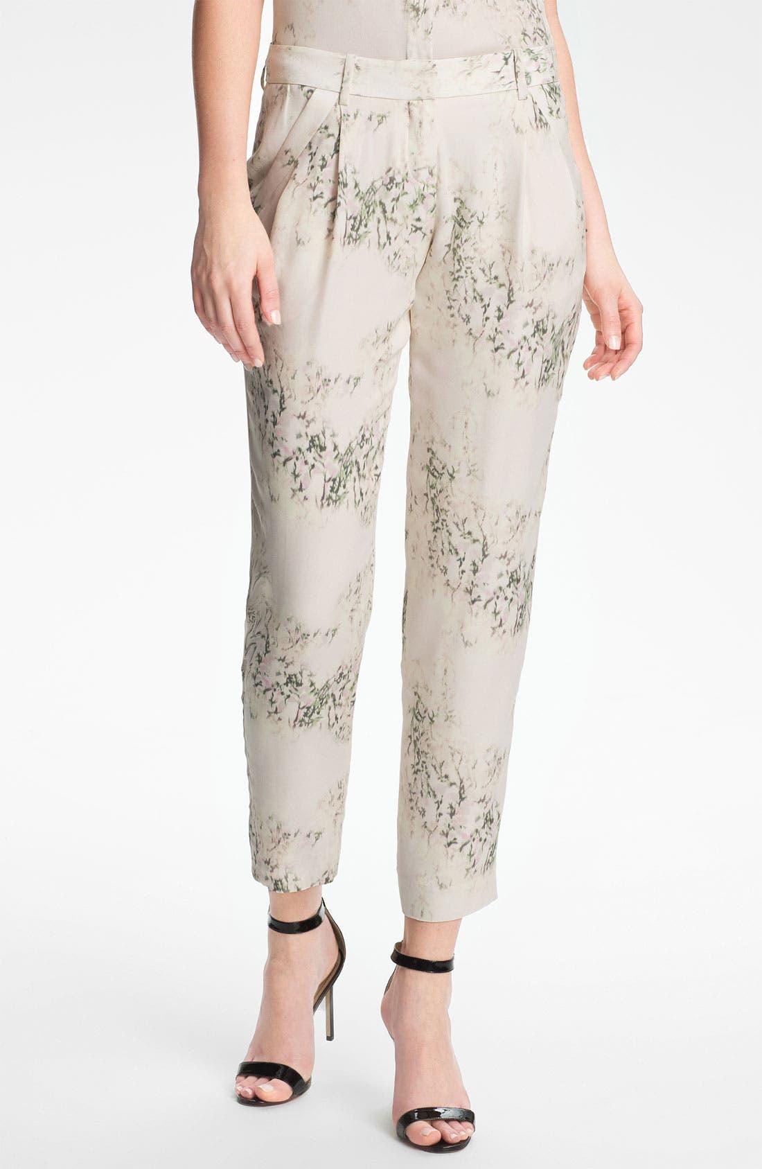 Alternate Image 1 Selected - Theory 'Yogan' Silk Pants