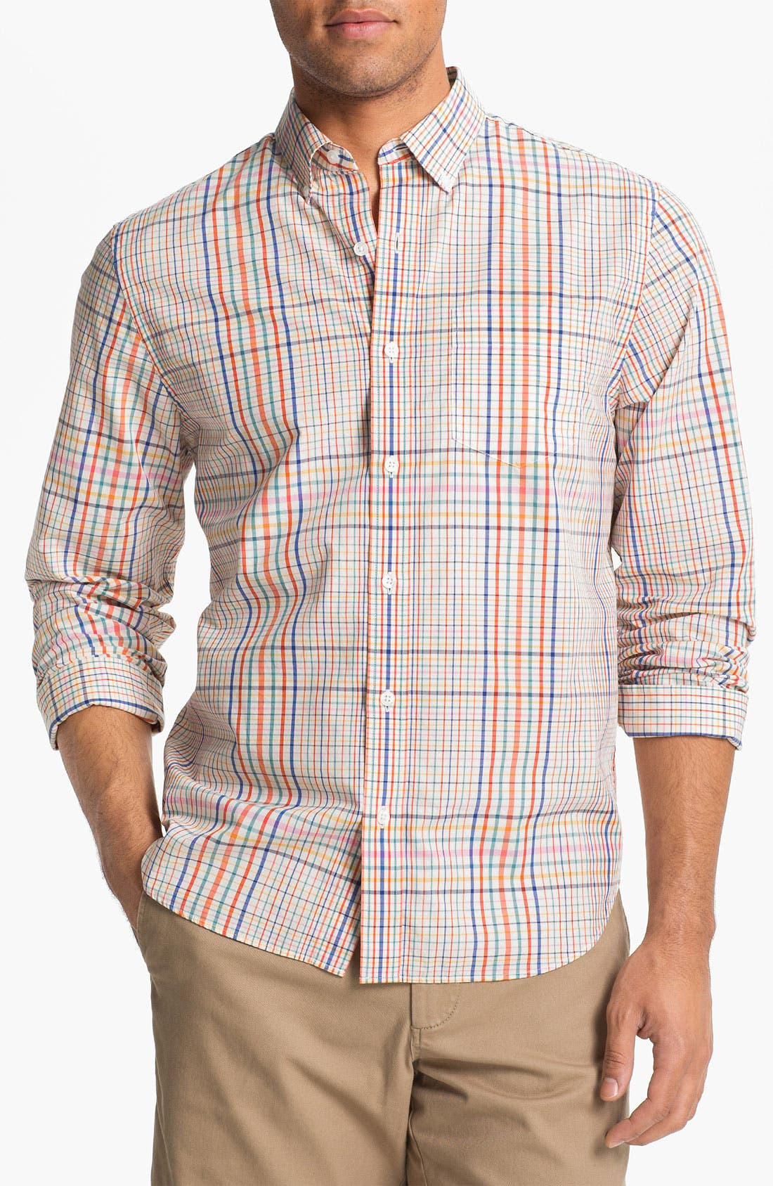 Alternate Image 1 Selected - Bonobos Tattersall Standard Fit Sport Shirt