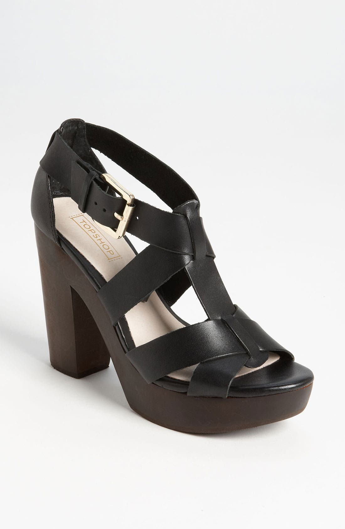 Alternate Image 1 Selected - Topshop 'Right-Wood' Sandal