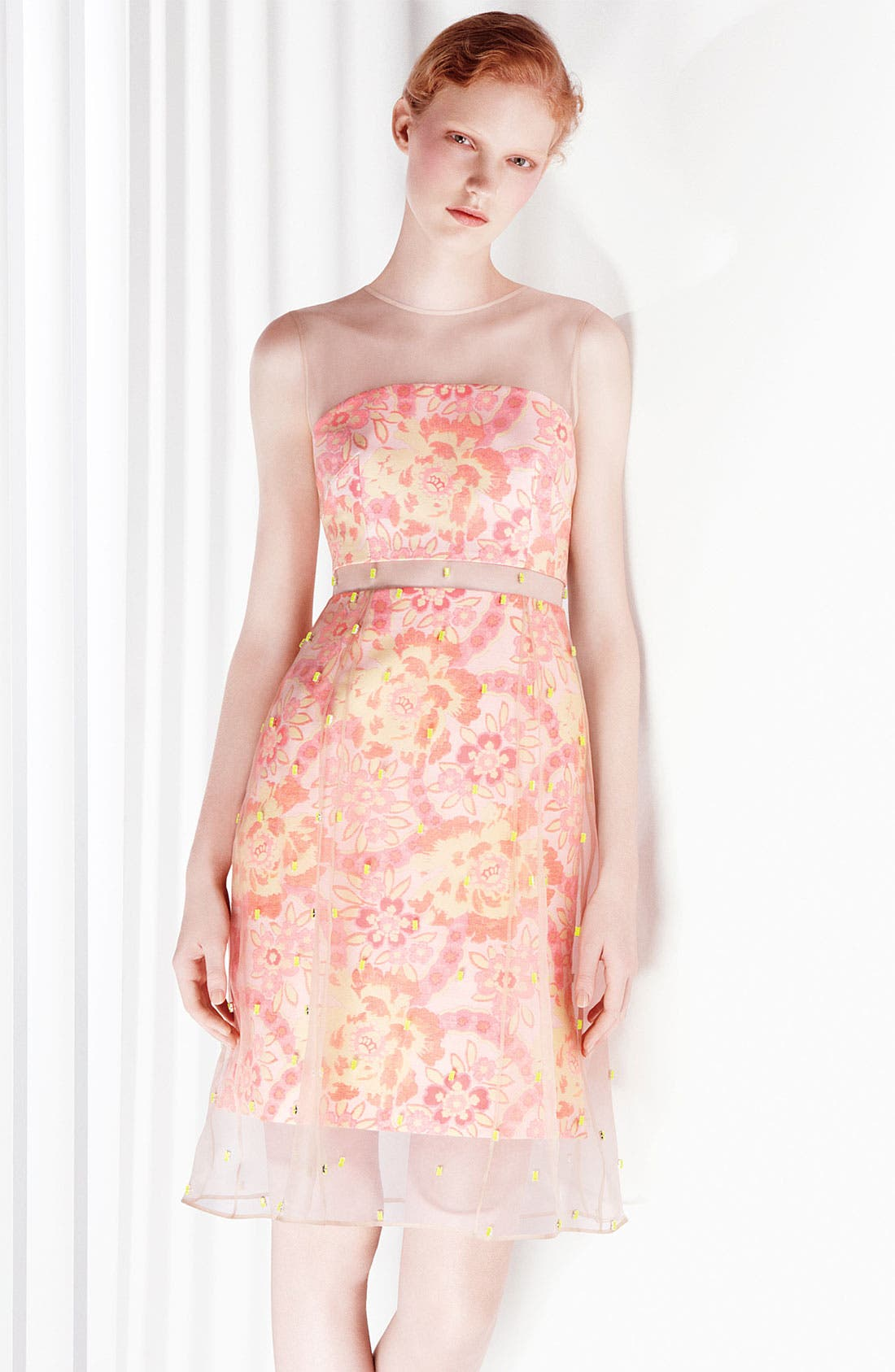 Alternate Image 4  - Erdem Damask Jacquard & Beaded Organza Dress